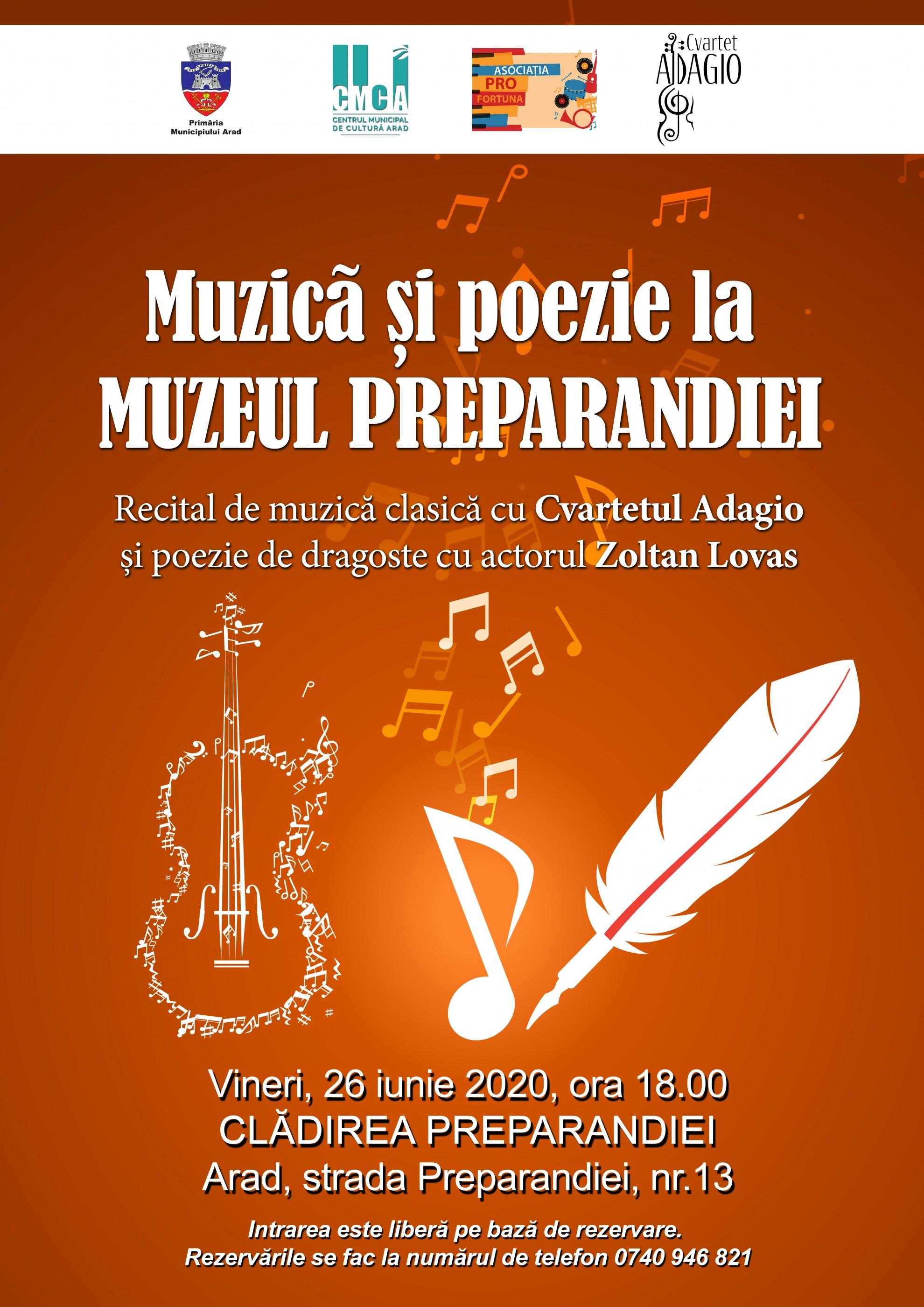 Muzică clasică și poezie la Muzeul Preparandiei