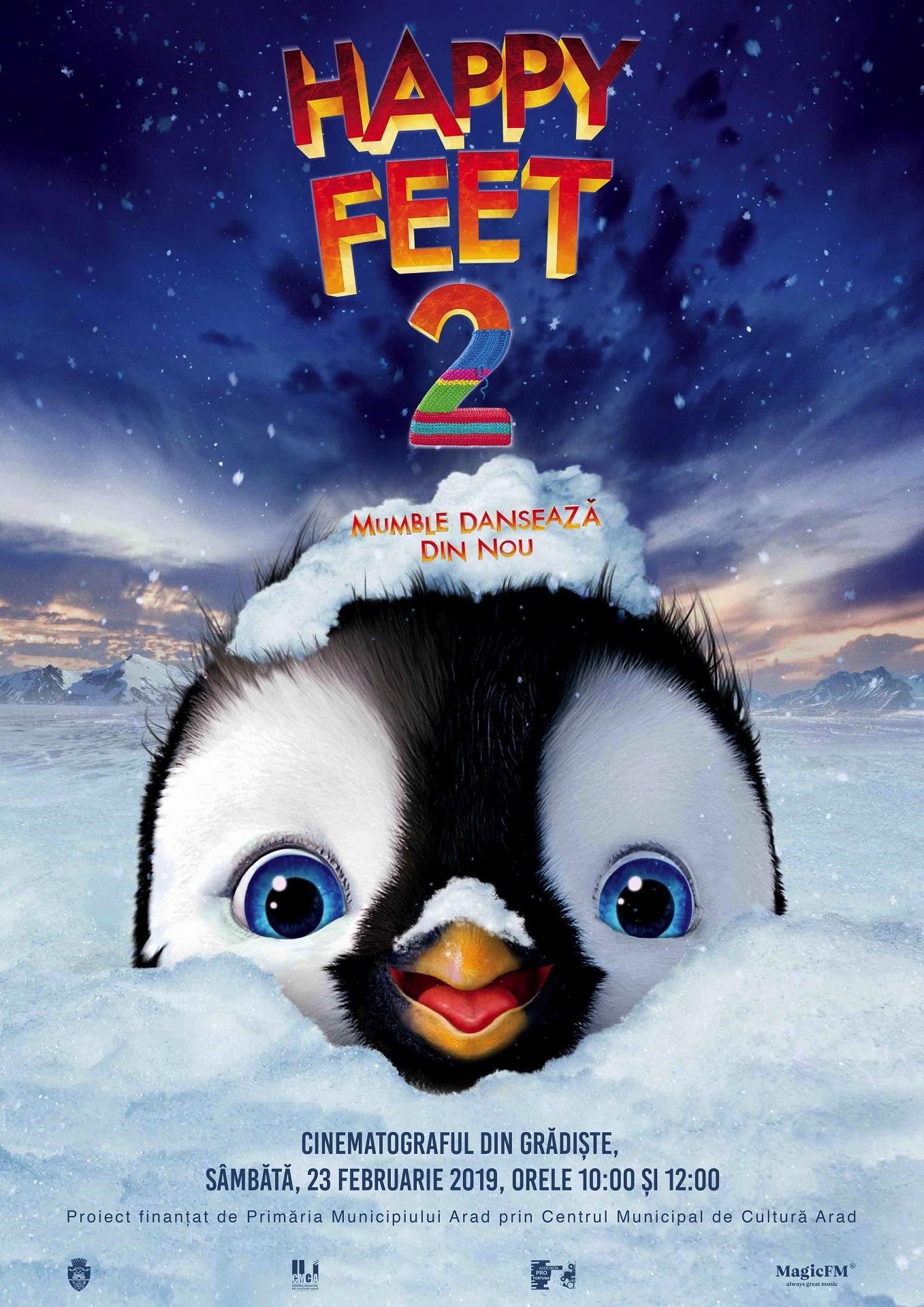 """Animația """"Happy Feet 2. Mumble dansează din nou"""", la cinematograful din Grădiște"""