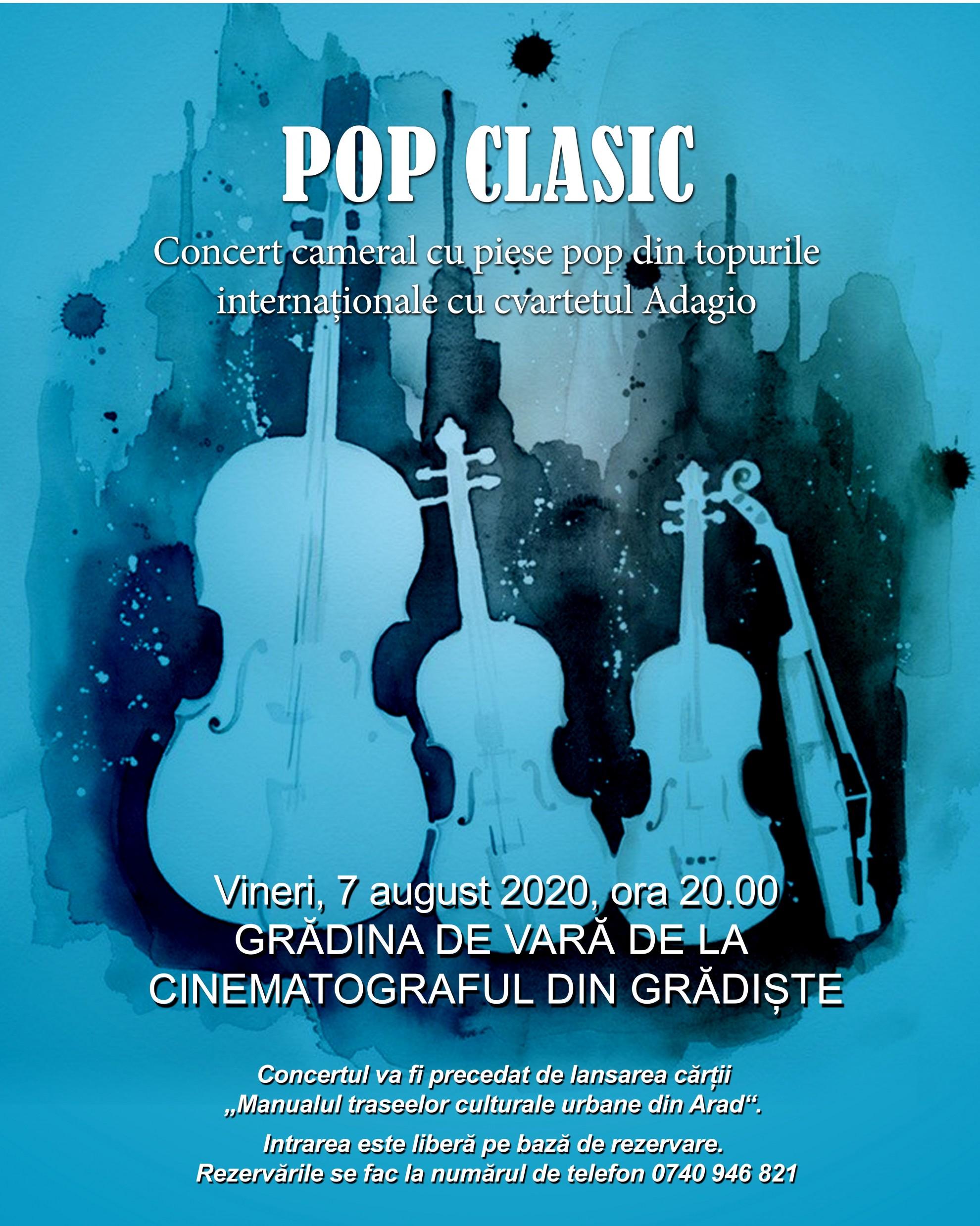"""""""Pop clasic""""  în grădina de vară de la cinematograful din Grădiște"""