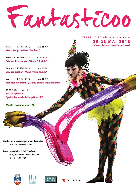 Festivalul internațional de teatru-circ Fantasticoo, ediția a IV-a