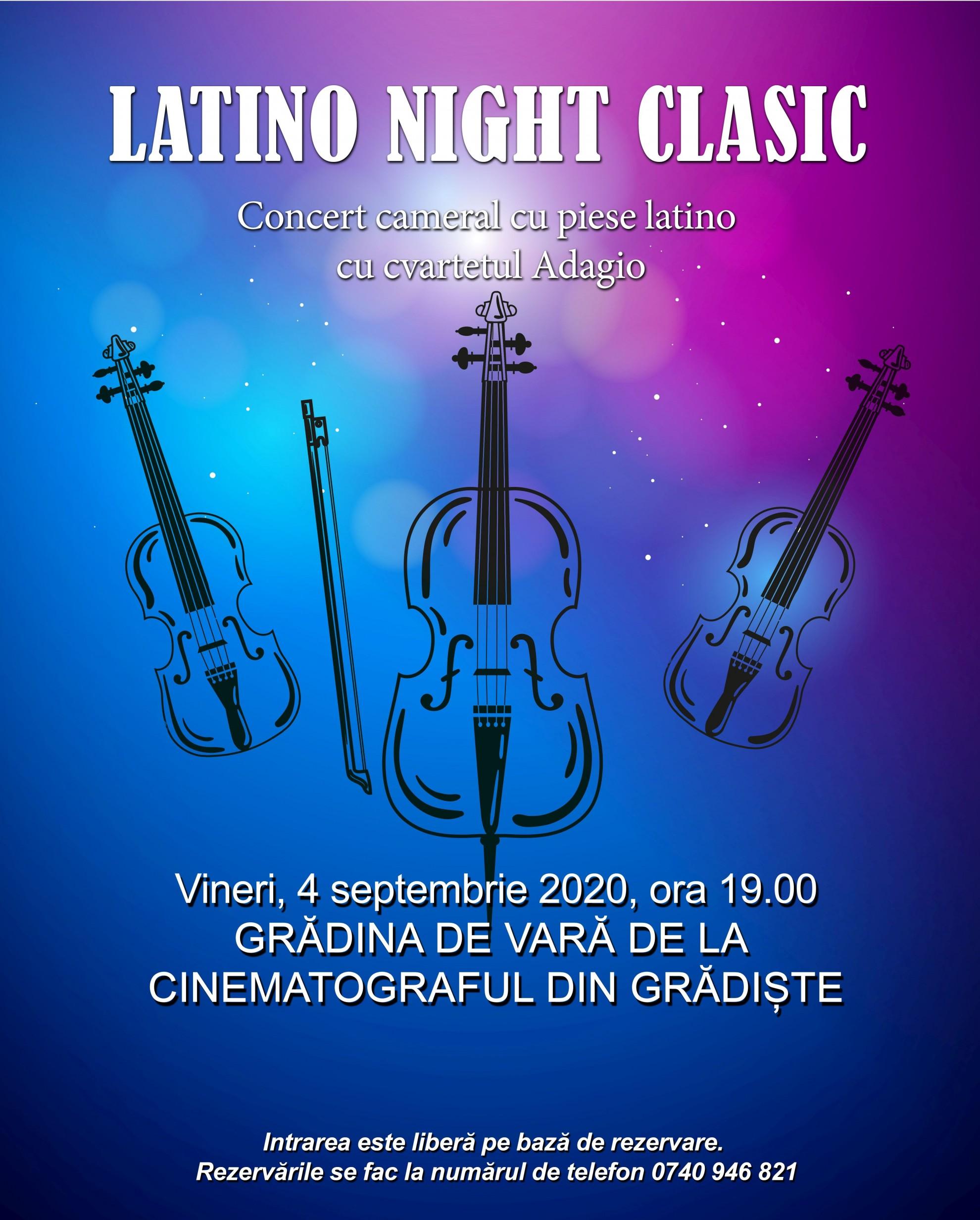 """""""Latino Night Clasic""""  în grădina de vară de la cinematograful din Grădiște. Toate locurile au fost rezervate"""