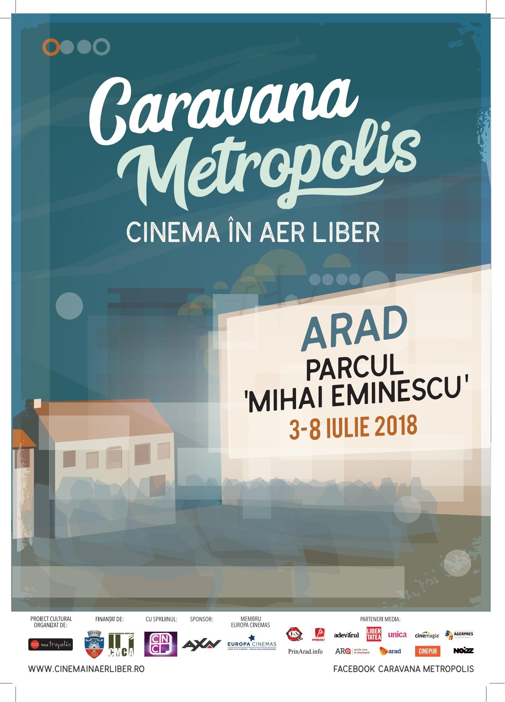 Caravana Metropolis în perioada 3-8 iulie, în Parcul Eminescu.