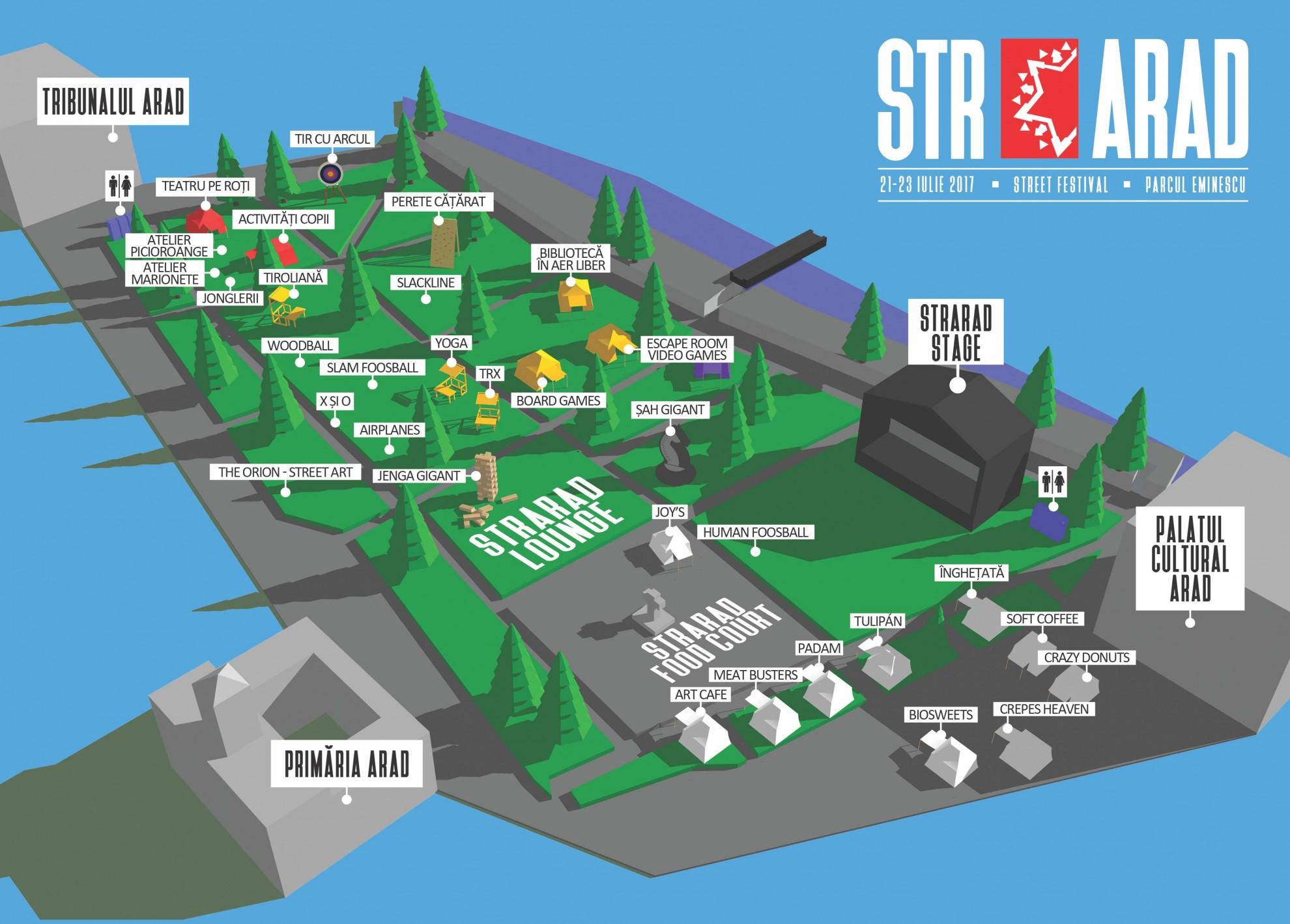 StrArad Street Festival, ediția a doua StrArad Parc, ce și unde găsiți