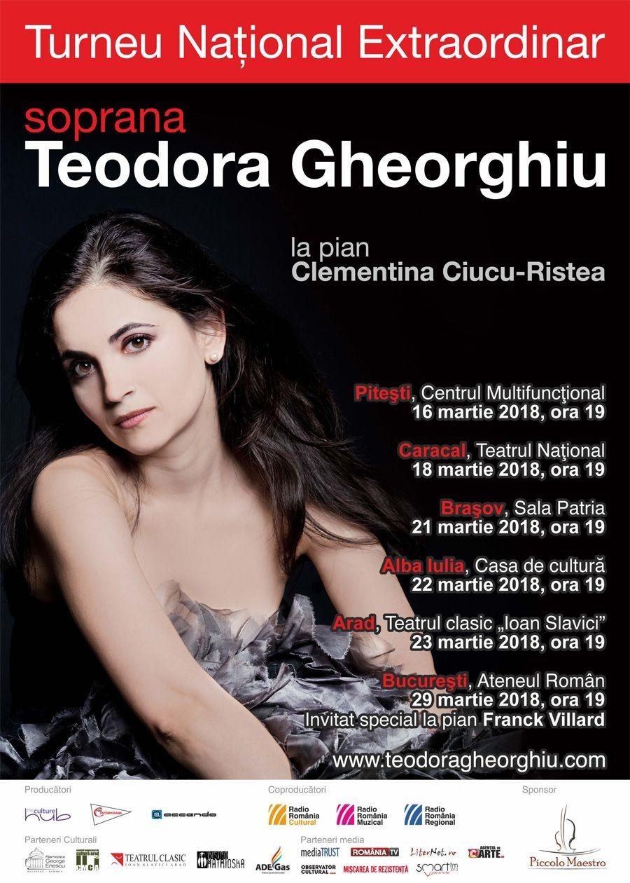 Soprana Teodora Gheorghiu – concert extraordinar la Arad