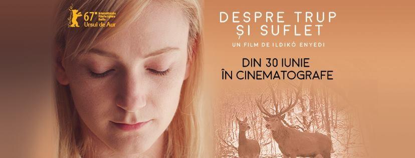 """""""Despre trup și suflet"""", marele câștigător al Festivalului Internațional de Film de la Berlin d va fi proiectat la Cinema Arta"""