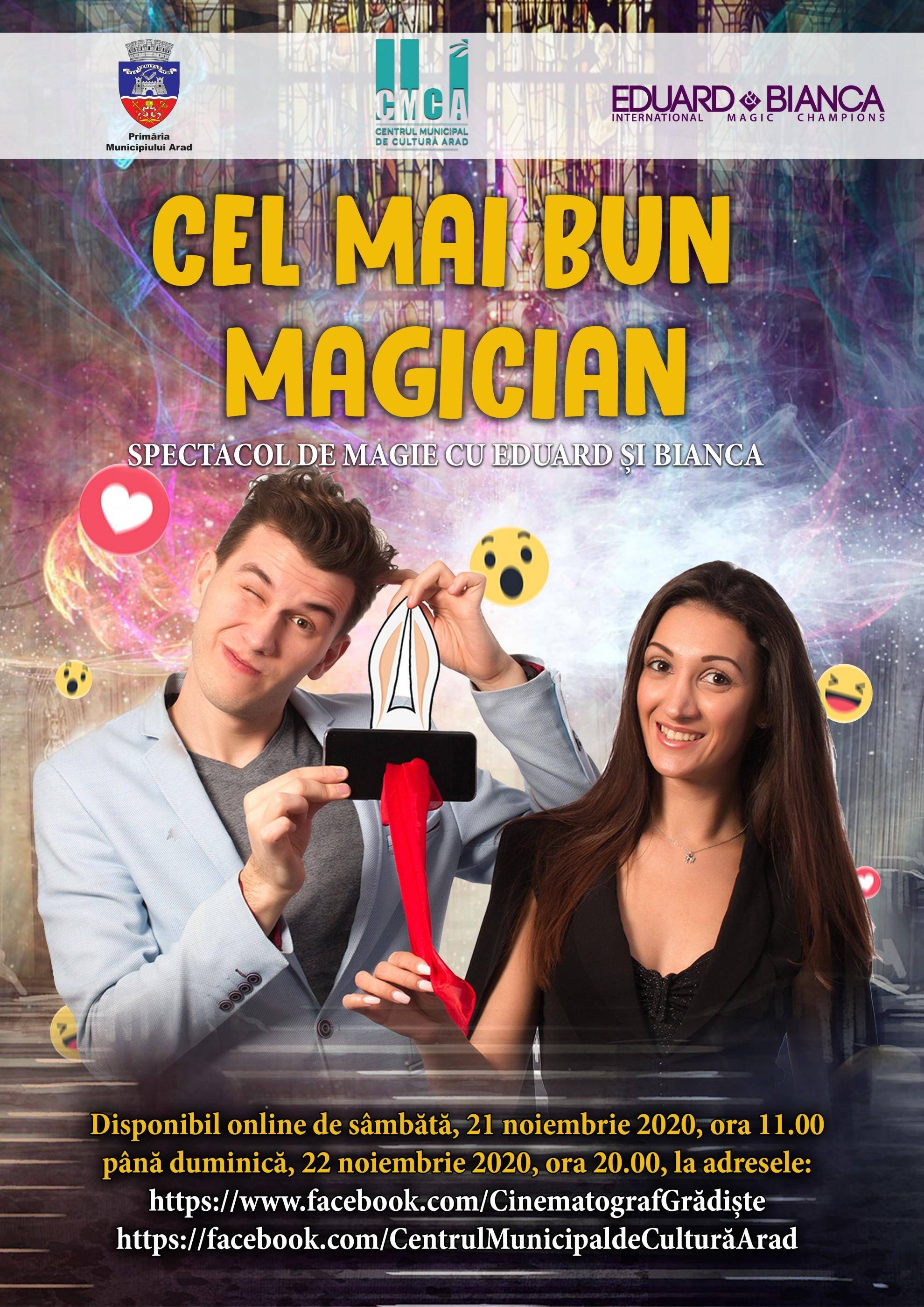 """""""Cel mai bun magician"""", spectacol de magie online cu Eduard și Bianca"""