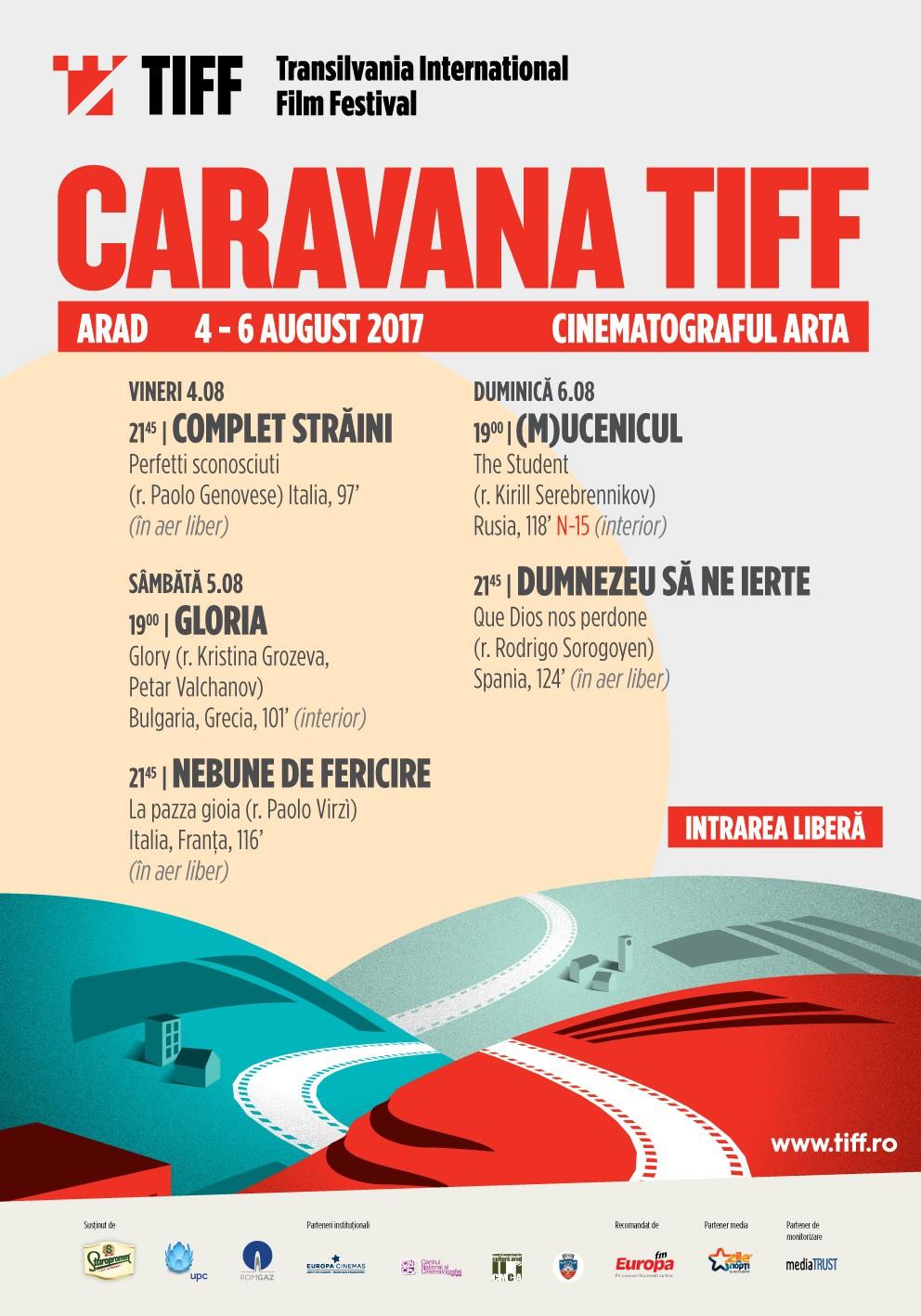 Caravana TIFF aduce cinci filme multi-premiate la Arad,