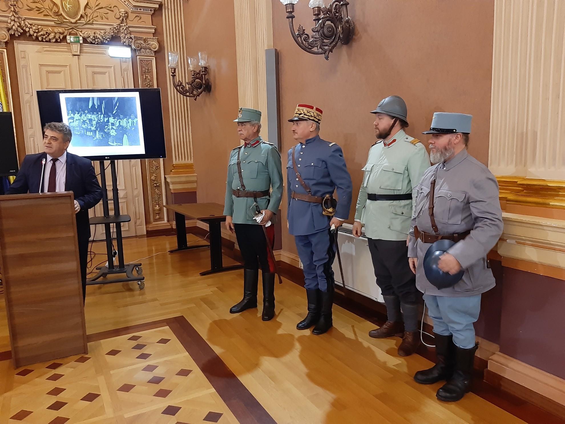 """Moment istoric. După 100 de ani, generalul Berthelot """"s-a întors"""" la Arad"""