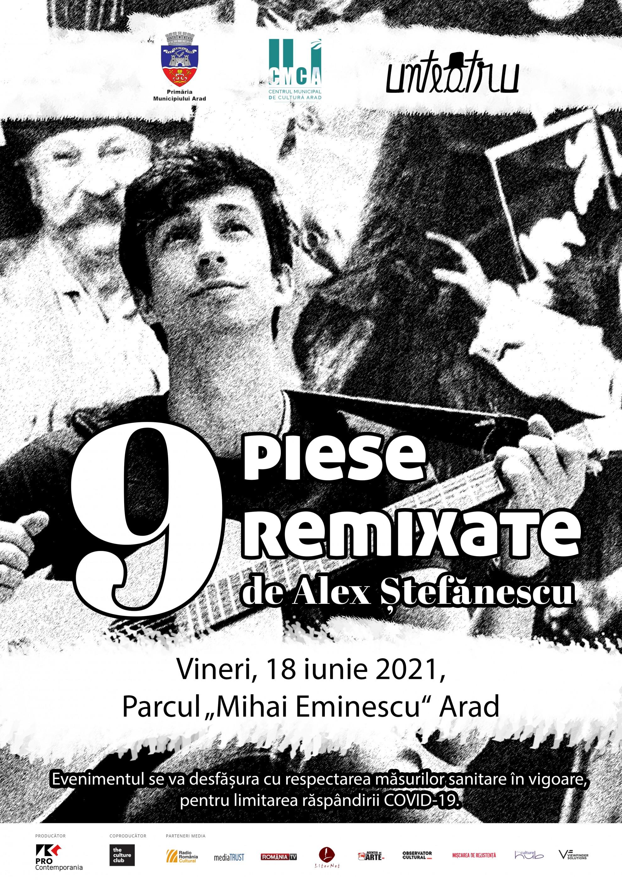 """Alex Ștefănescu va prezenta spectacolul """"9 piese remixate"""", la Arad"""