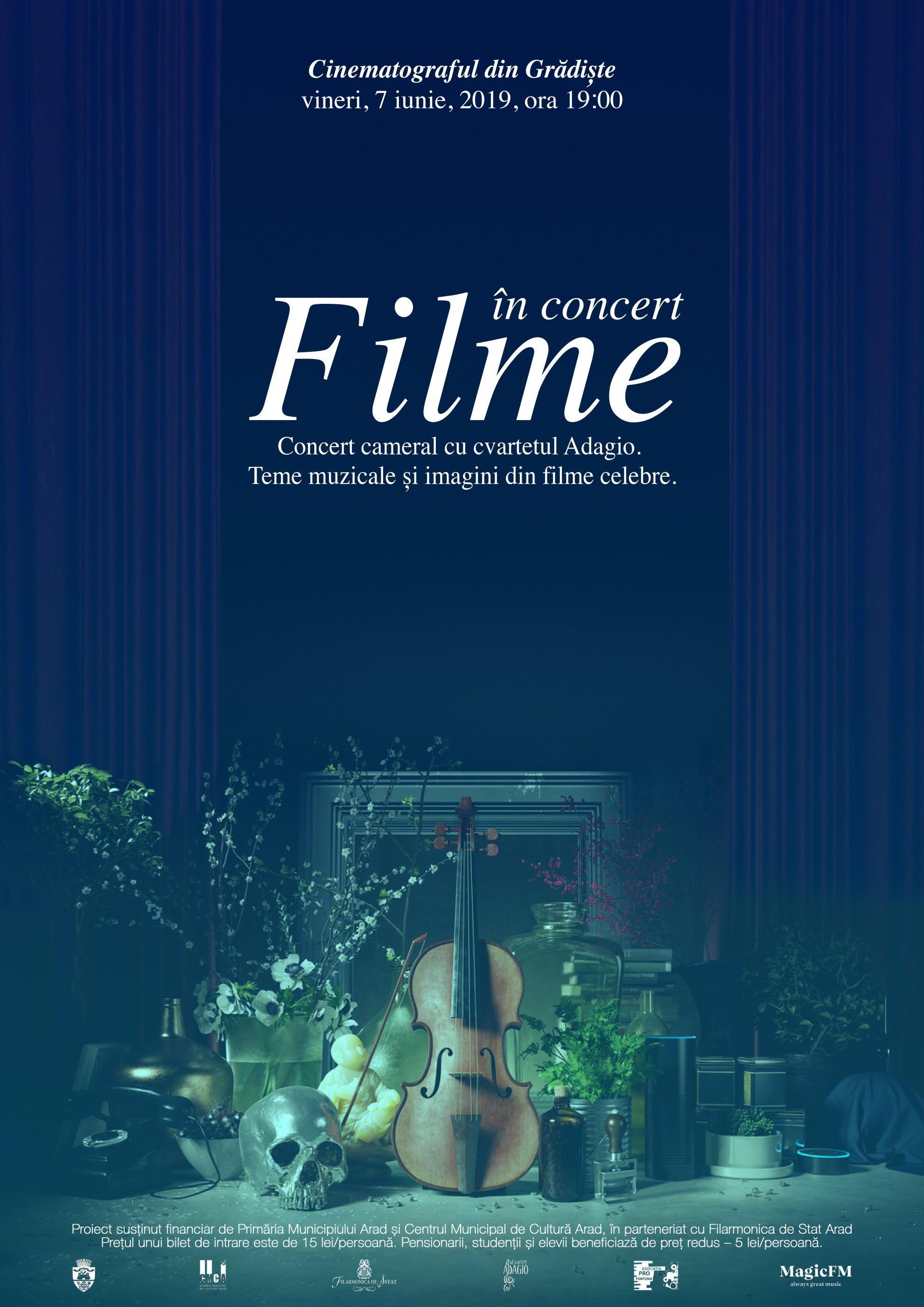 """""""Filme în concert"""", ediția a II-a – spectacol de muzică și imagine, la cinematograful din Grădiște"""