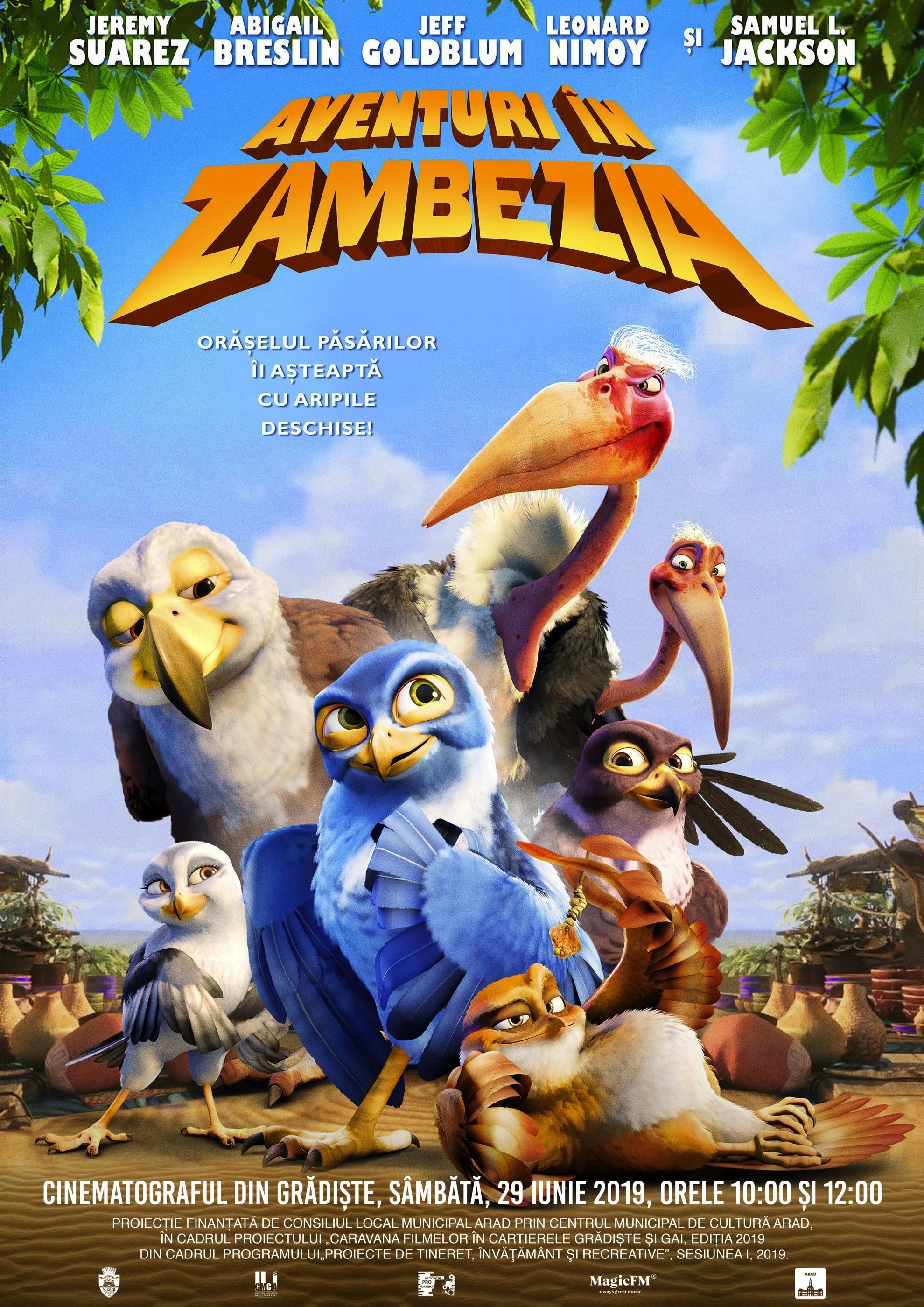 """Animația """"Aventuri în Zambezia"""", la cinematograful din Grădiște"""