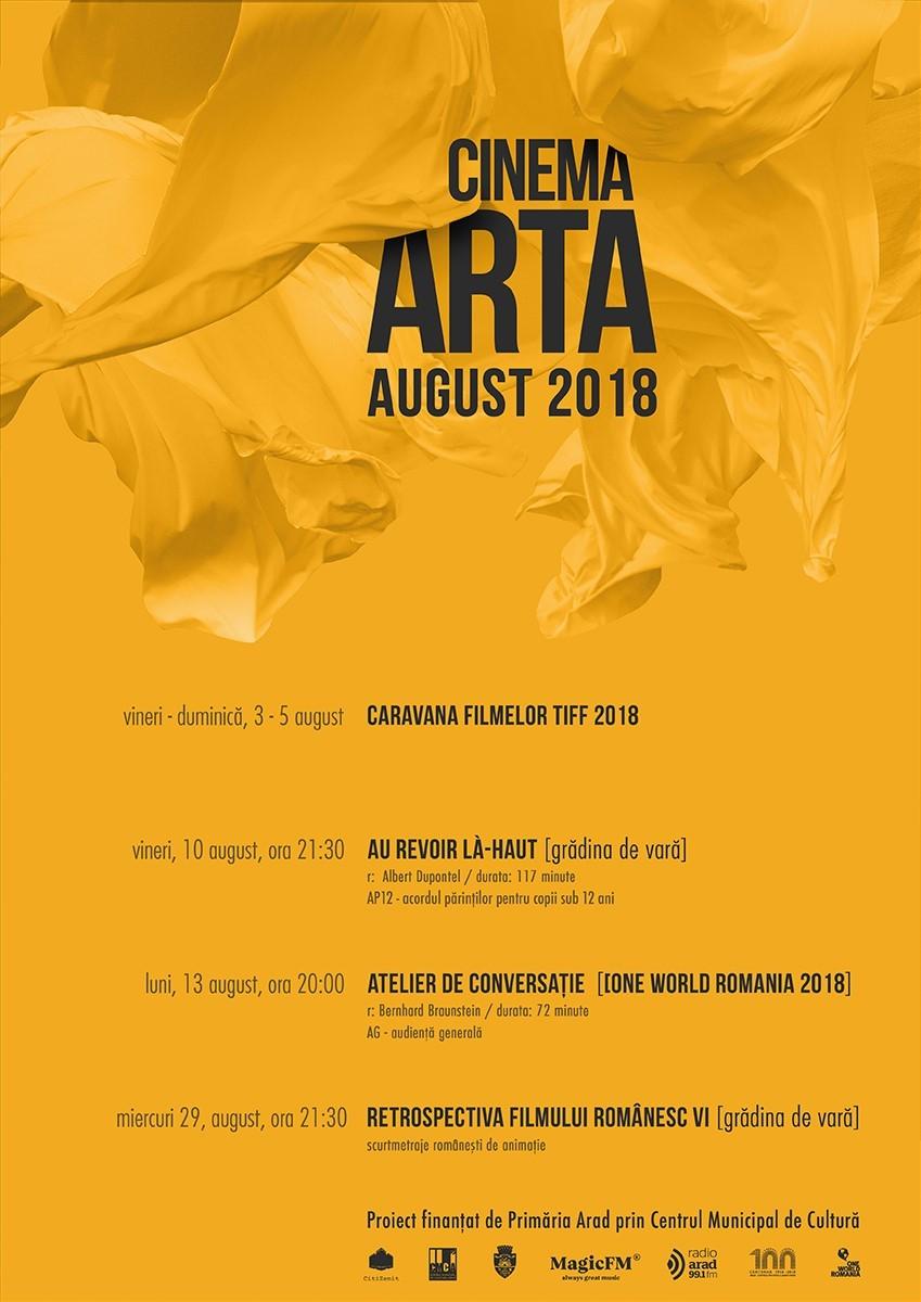 Filmele lunii august la Cinema Arta
