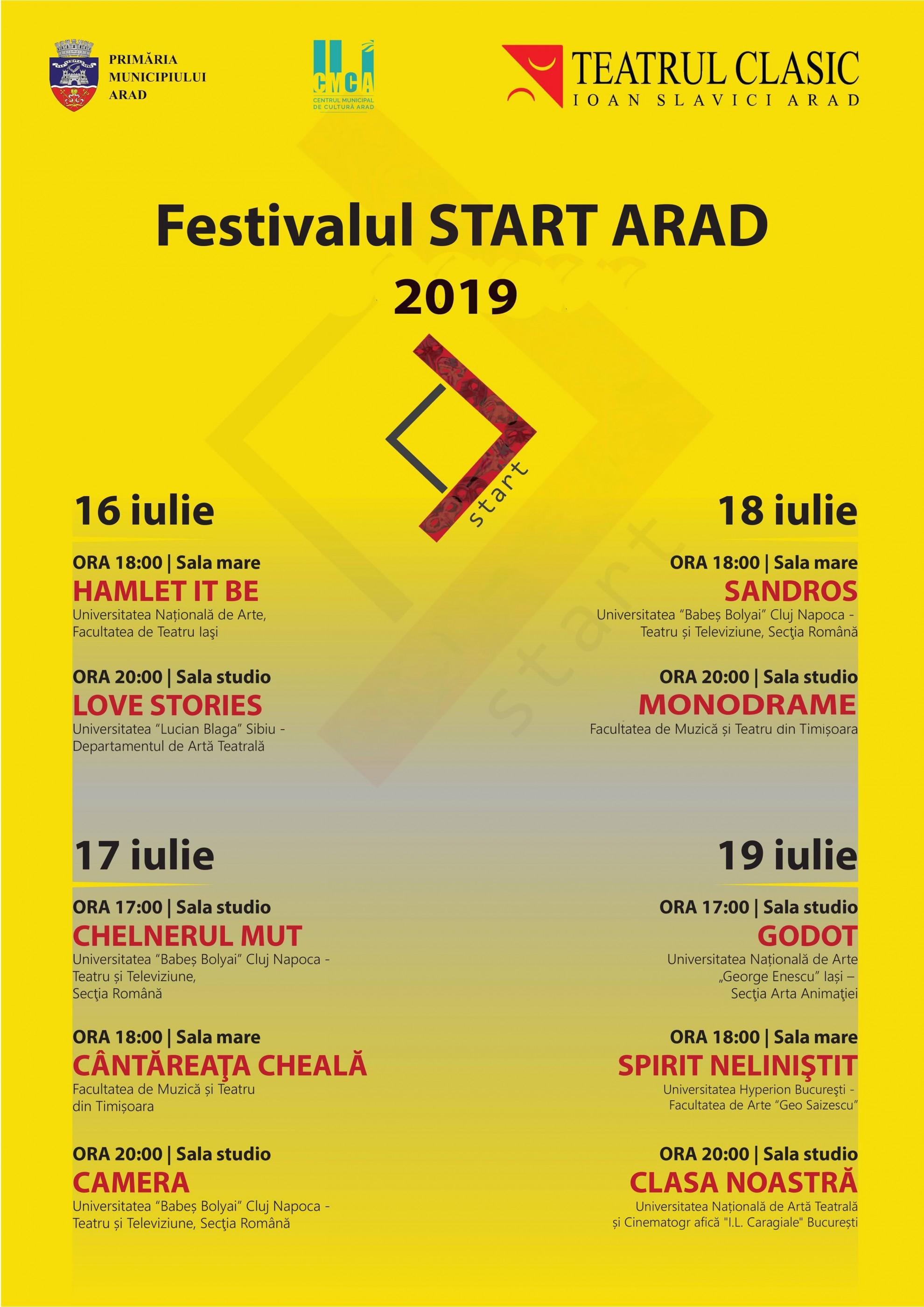 Începe Festivalul Universităţilor de Teatru din România - START