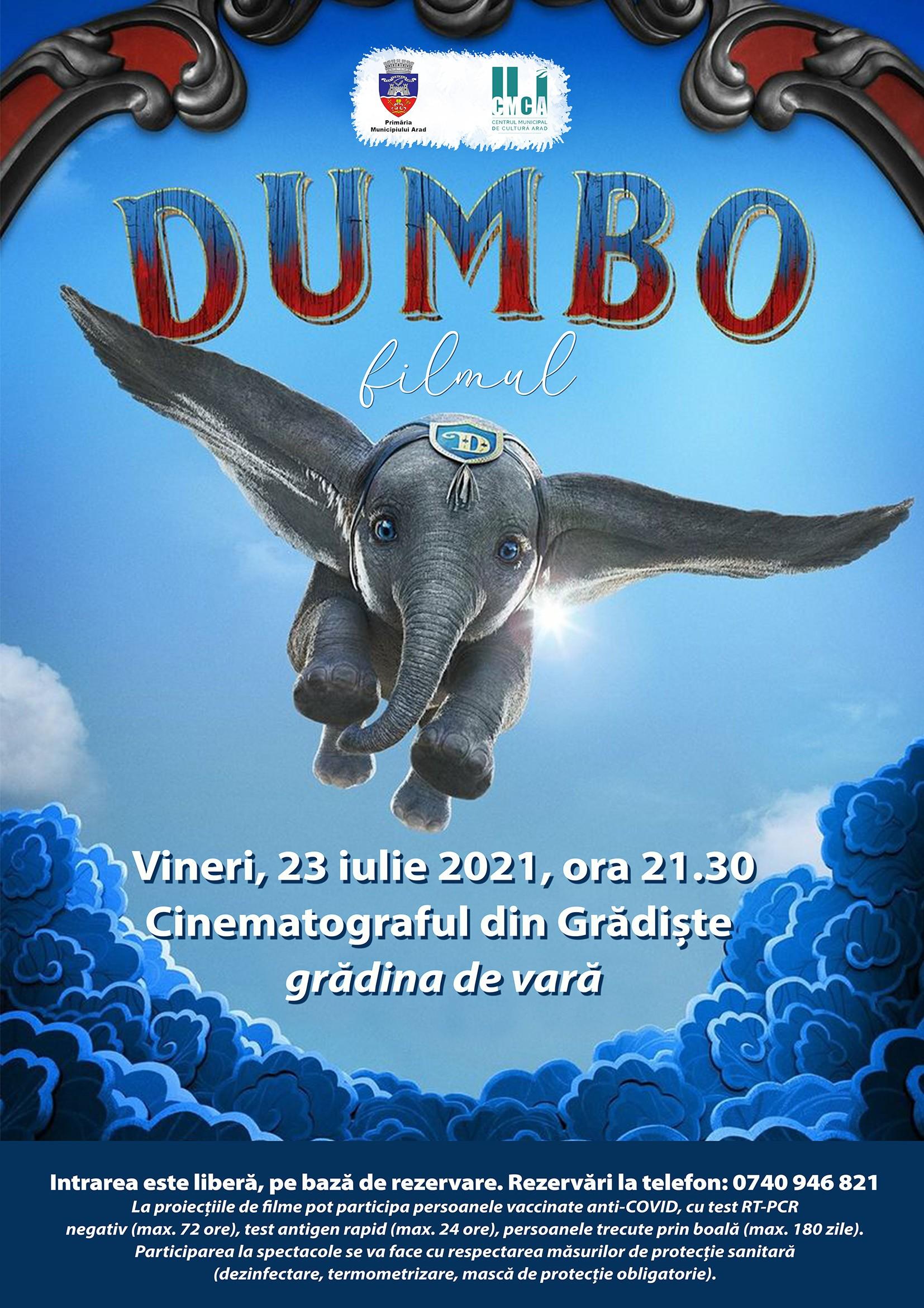 """Filmul """"Dumbo"""", în grădina de vară de la cinematograful din Grădiște"""