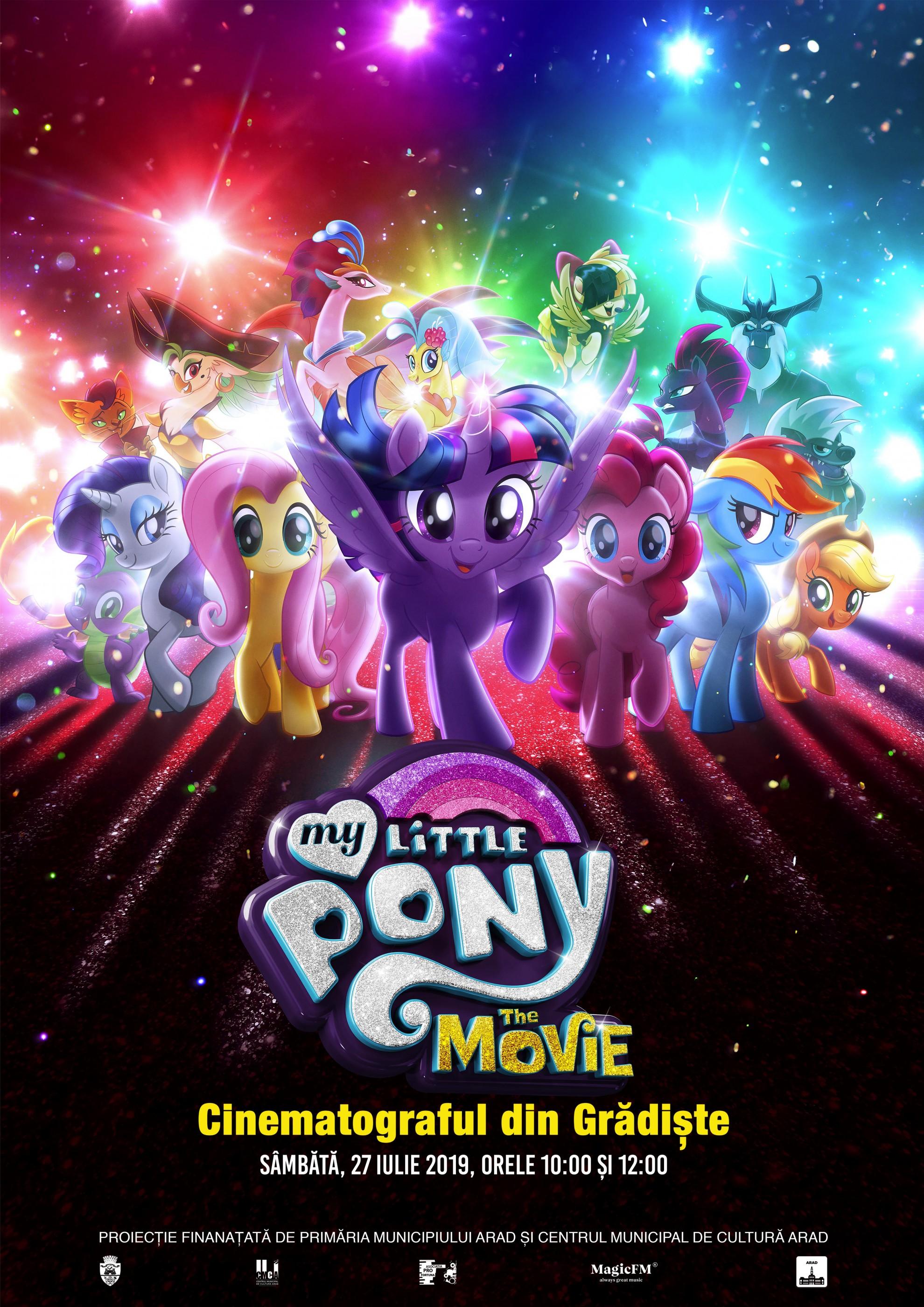 """Animația """"Micul meu ponei/My Little Pony"""",  la cinematograful din Grădiște"""