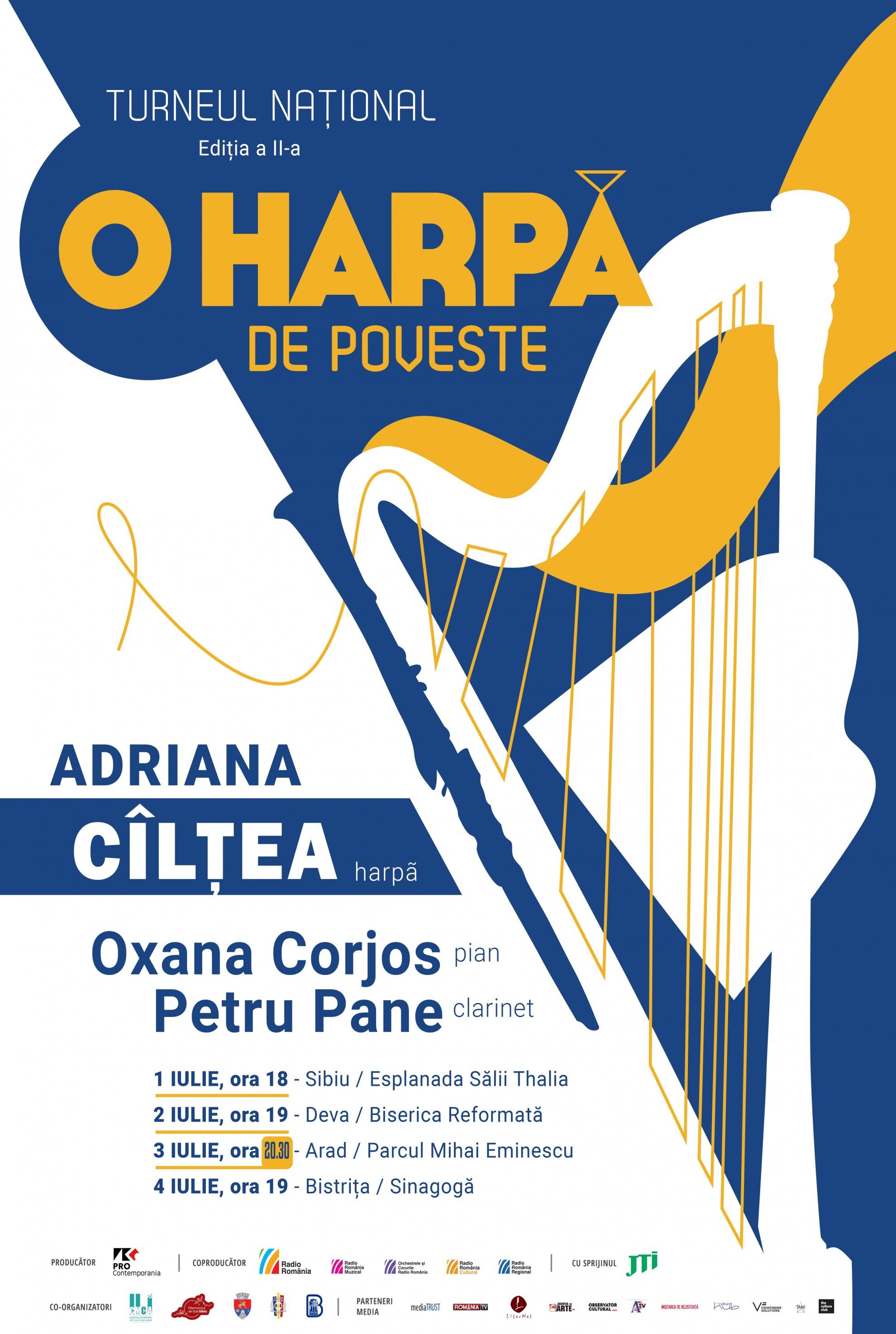 """Turneul național """"O harpă de poveste – open air"""", la Arad"""