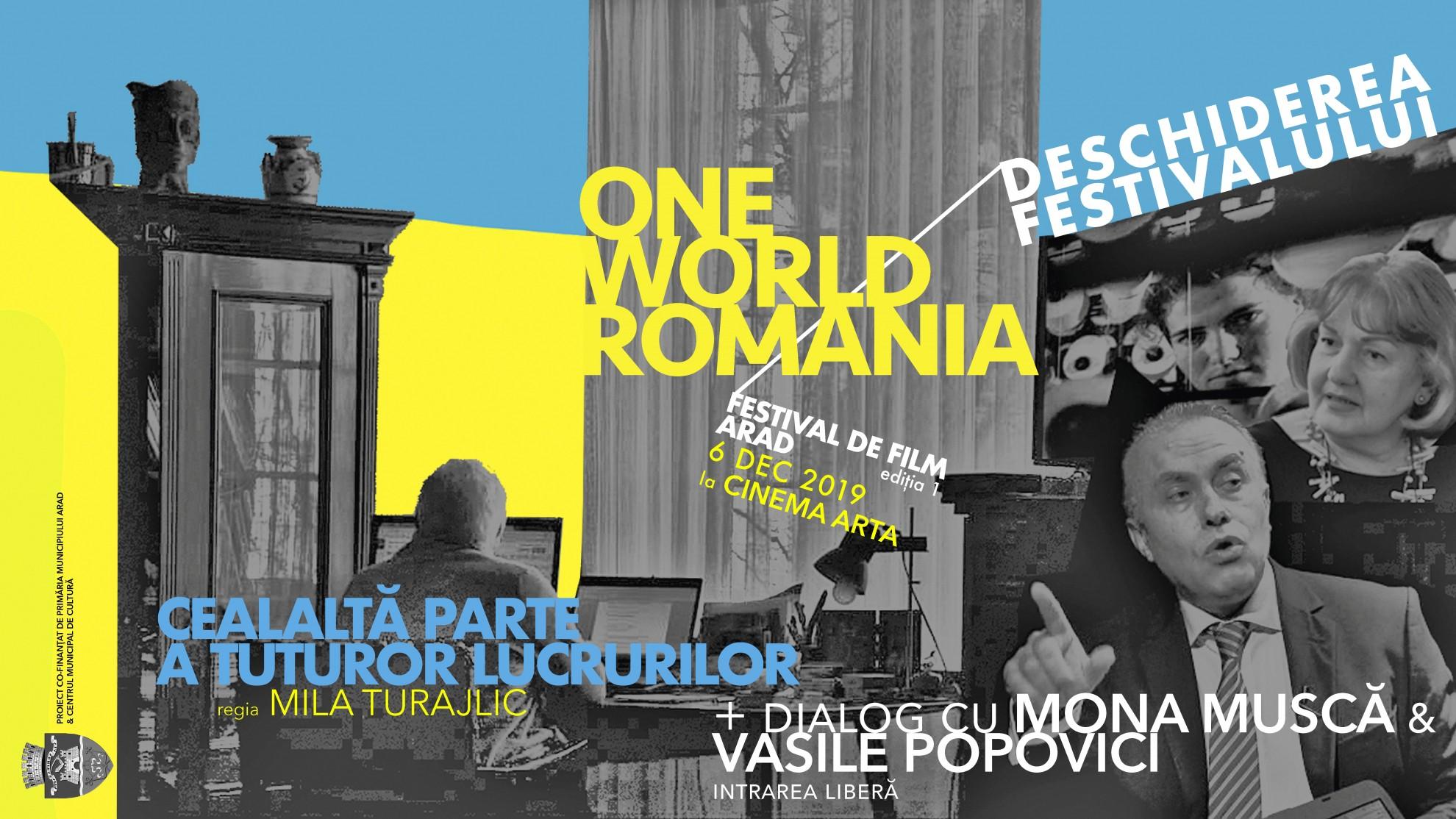 Vineri începe prima ediție  One World Romania la Arad