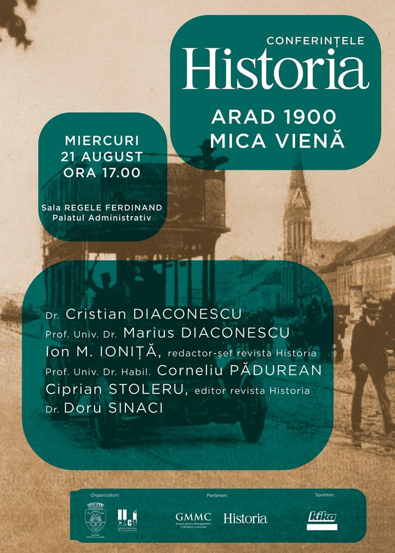 Conferințele Historia, ediția a II-a: Arad 1900, mica Vienă