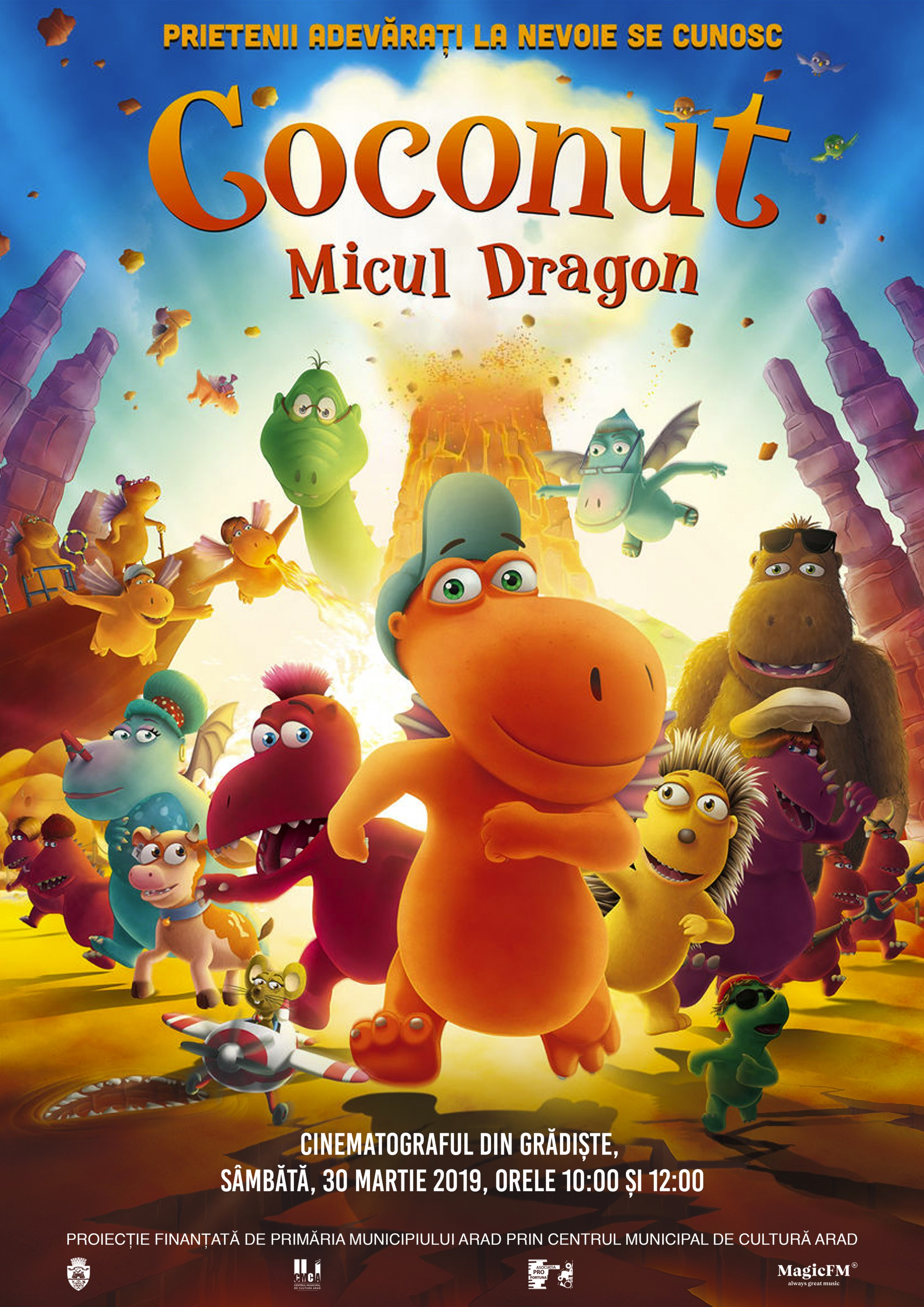 "Animația ""Coconut, micul dragon"", la cinematograful din Grădiște"
