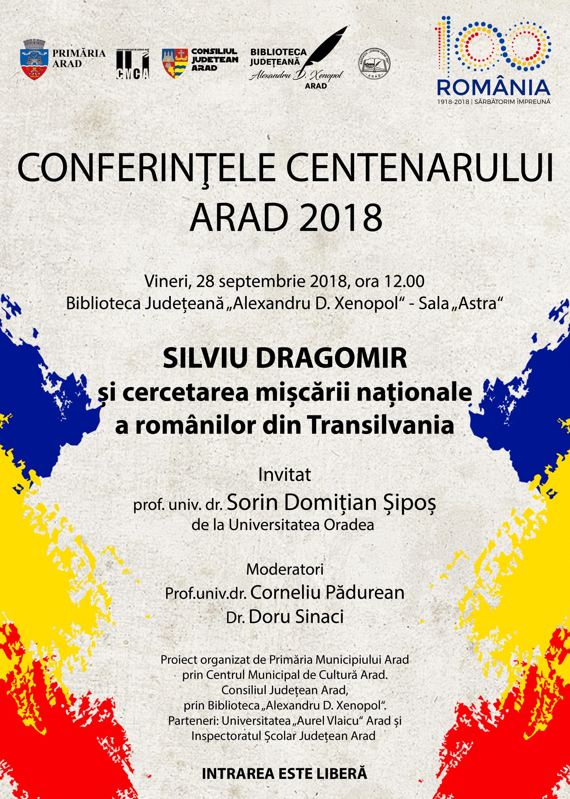 Sorin Șipoș de la Universitatea din Oradea va conferenția la Arad
