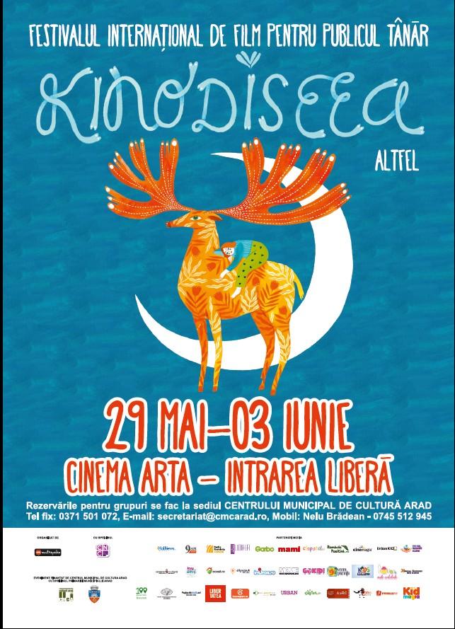 KINOdiseea, festival internaţional de film pentru copii şi adolescenţi, va avea loc, anul acesta, la Arad între 29 mai – 3 iunie.