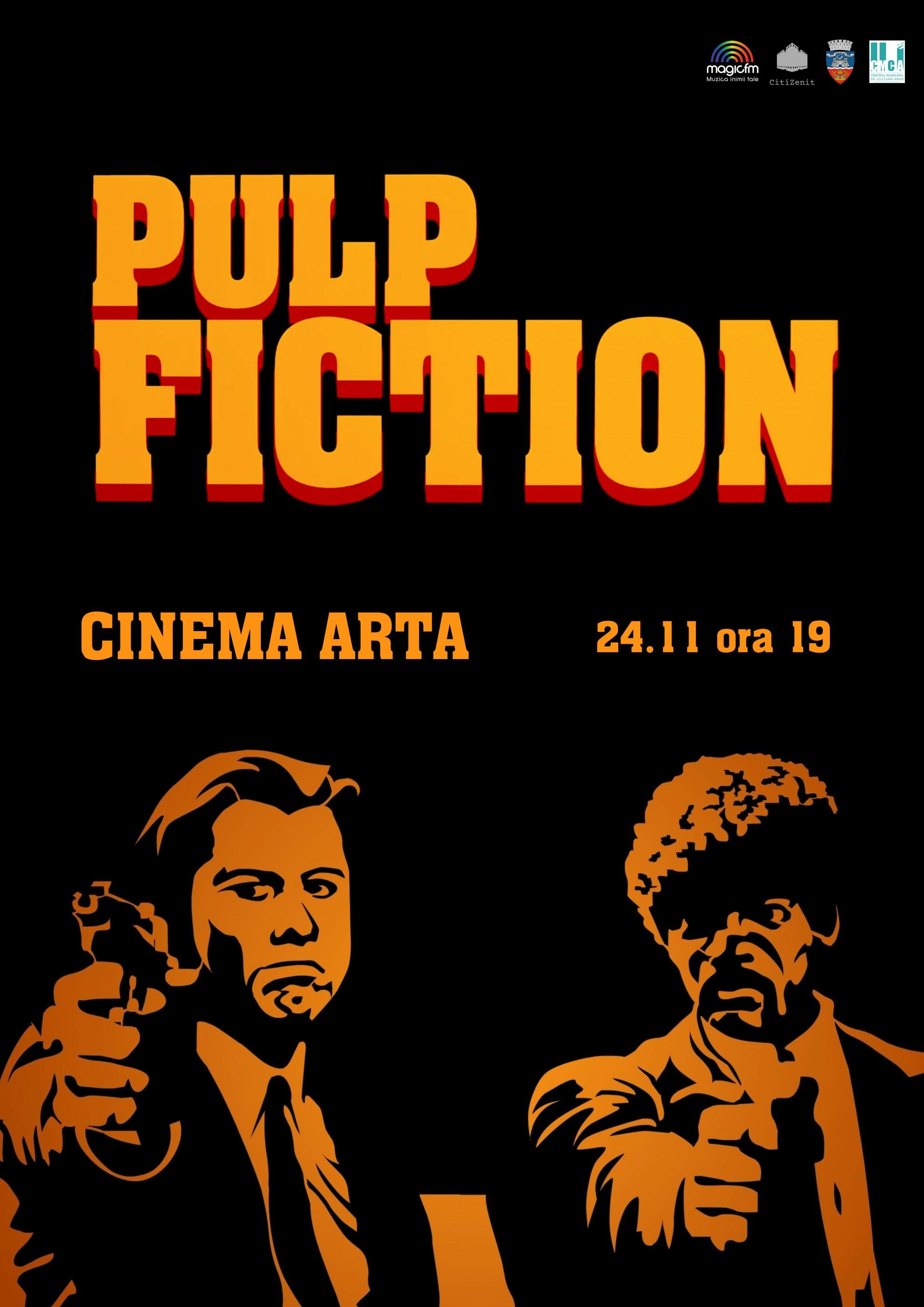 PULP FICTION ajunge pe marele ecran la Cinema Arta