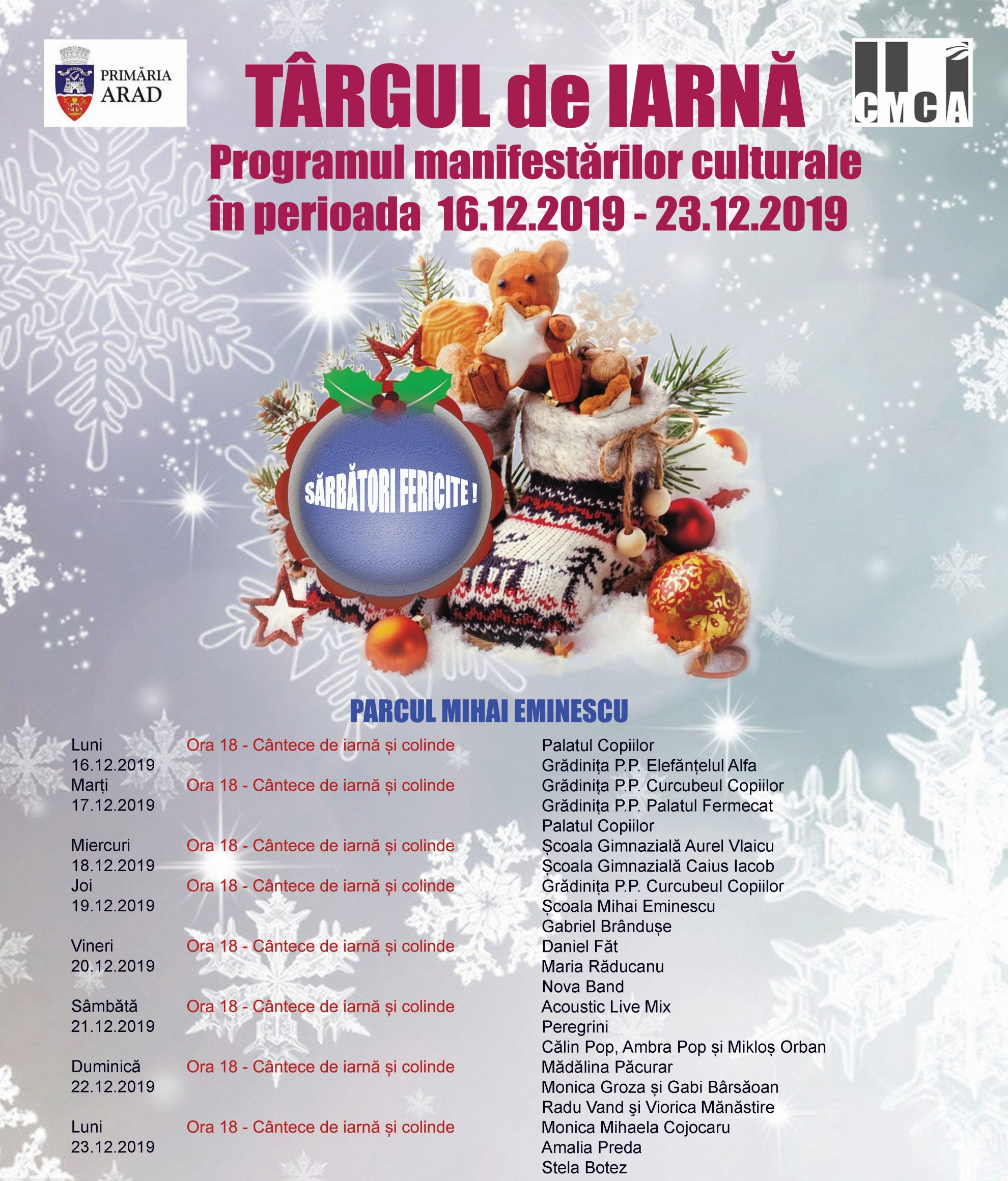 Târgul de Iarnă, ediția 2019: atracții pentru copii, produse tradiționale specifice sărbătorilor și multă distracție