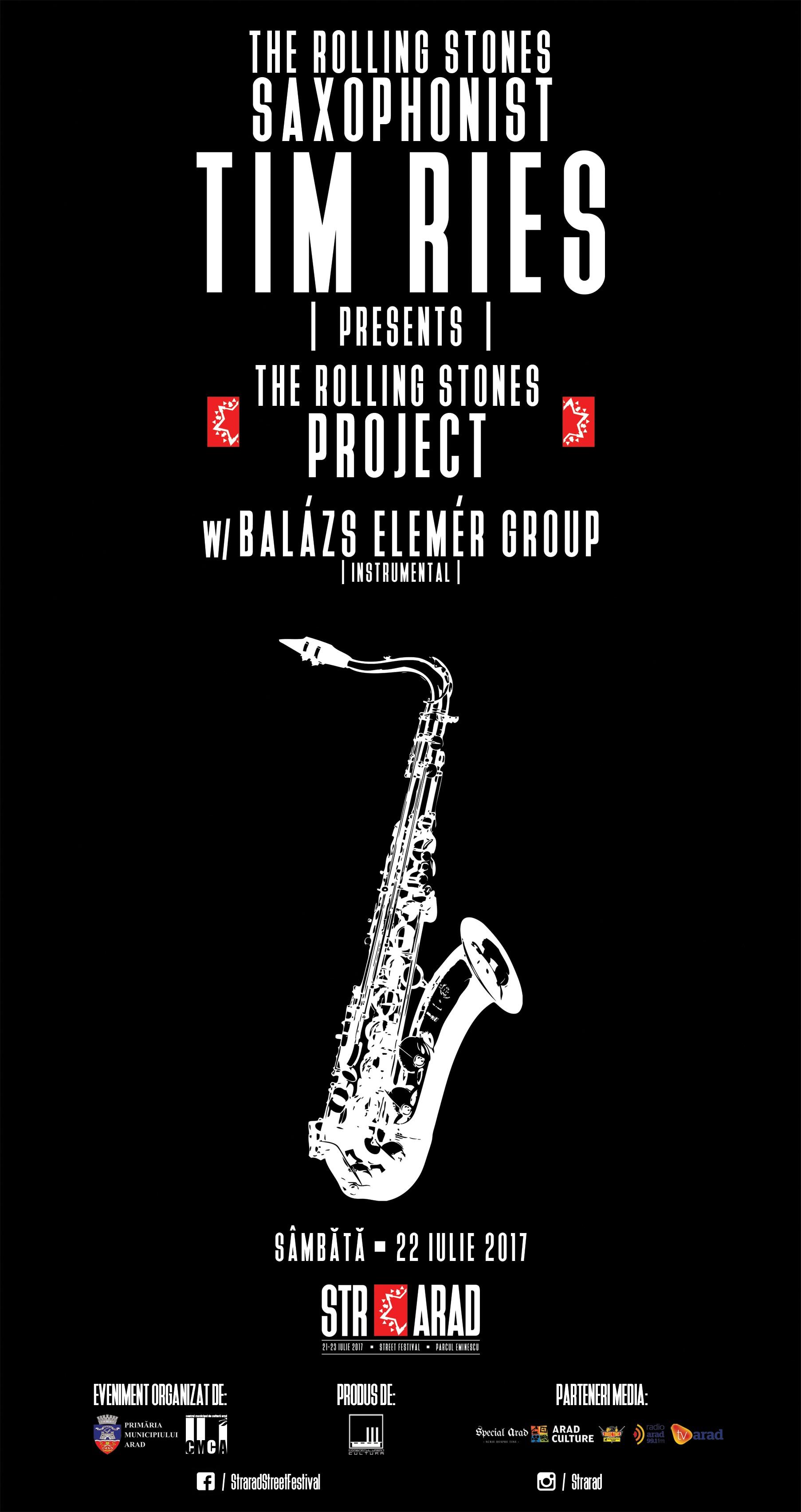 THE ROLLING STONES PROJECT by TIMRIES w/ BALAZS ELEMER GROUP pentru prima oară în România