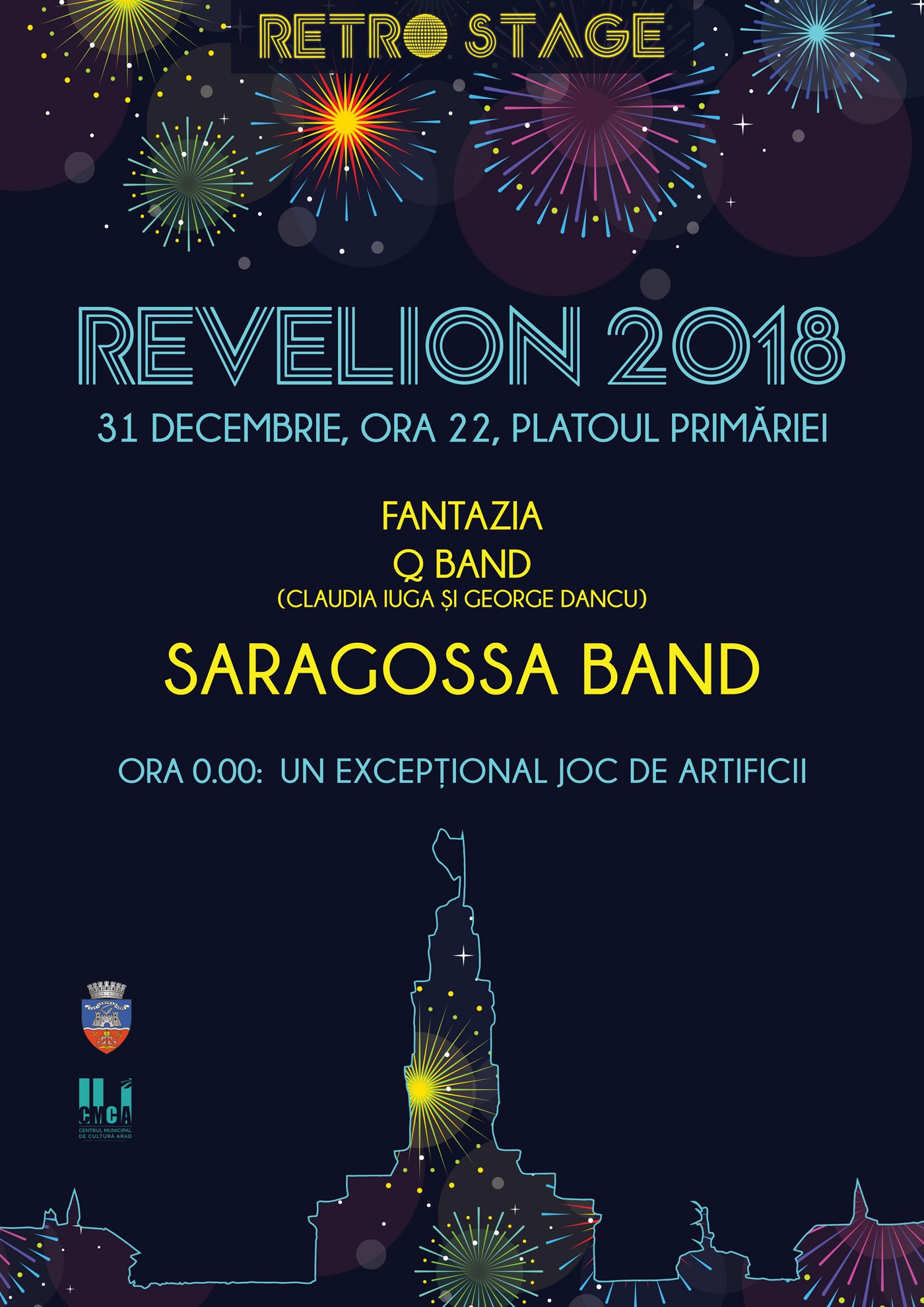 Saragossa Band band will sing at new year's Eve in 2018, in the center of Arad