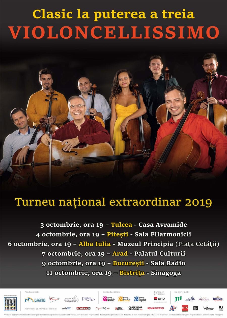 """Turneul naţional extraordinar """"Clasic la puterea a treia - Violoncellissimo"""", la Arad"""