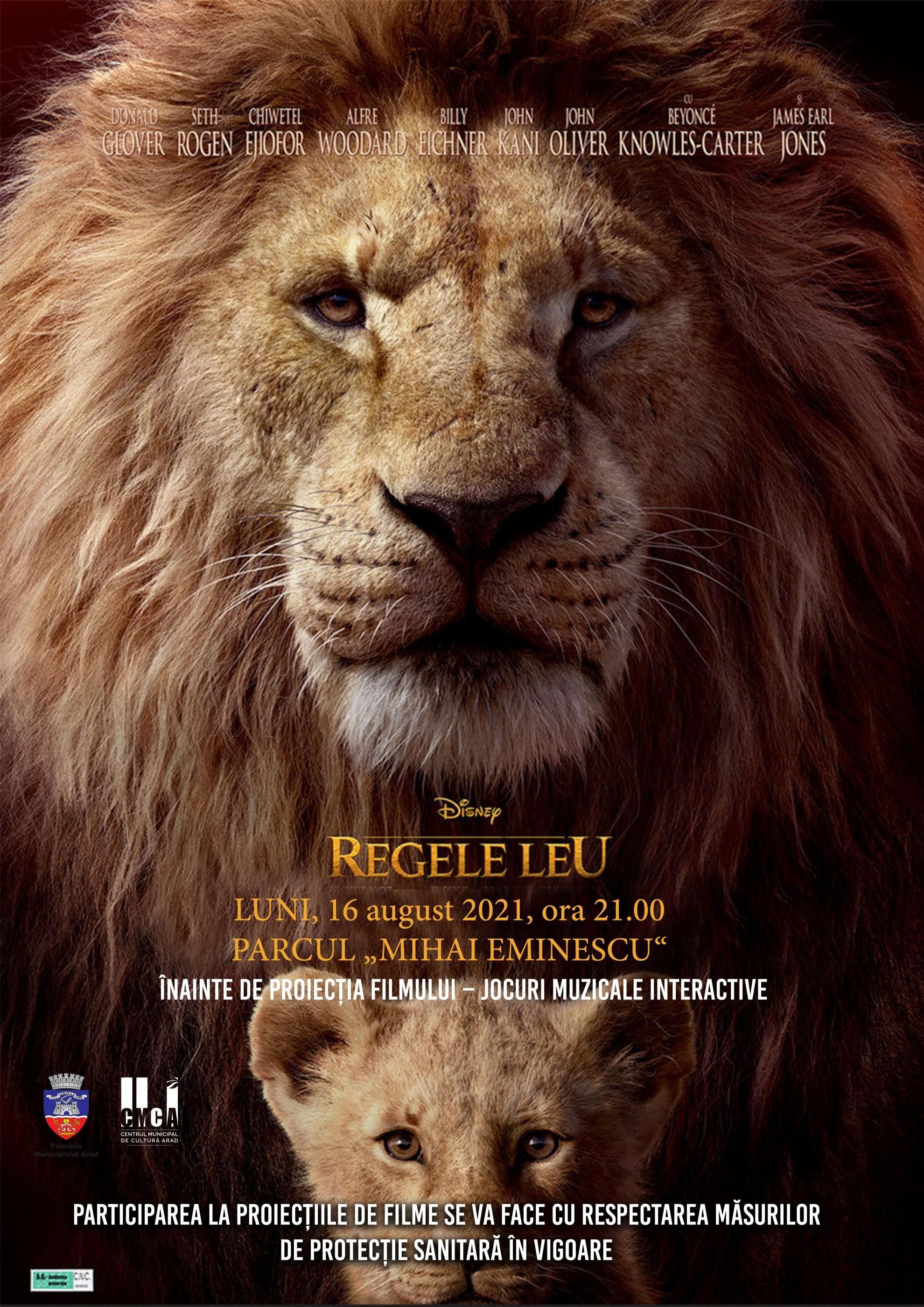 """Zilele Aradului 2021. Filmul """"Regele Leu"""", proiectat în Parcul """"Mihai Eminescu"""""""