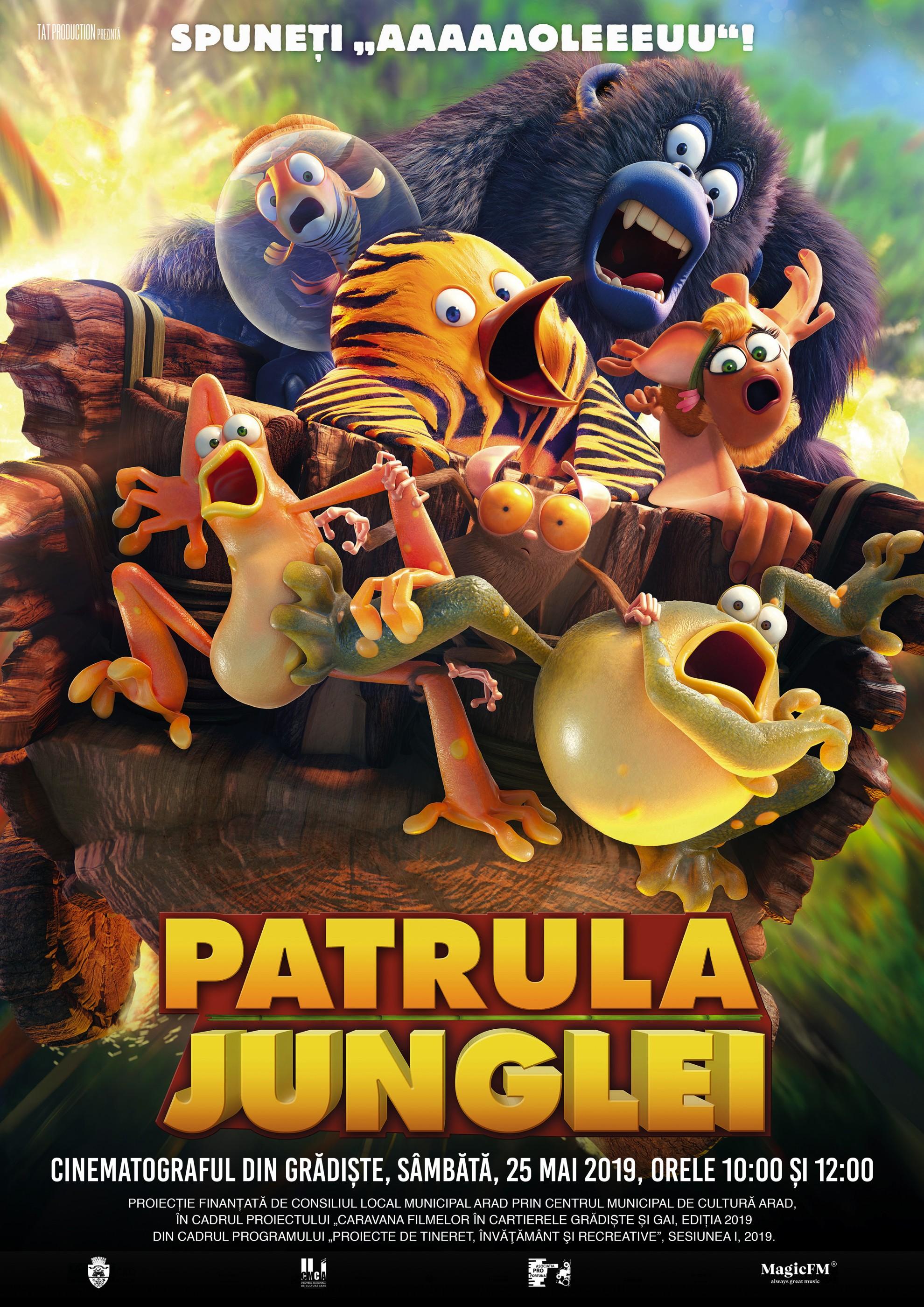 """Animația """"Patrula junglei"""", la cinematograful din Grădiște"""