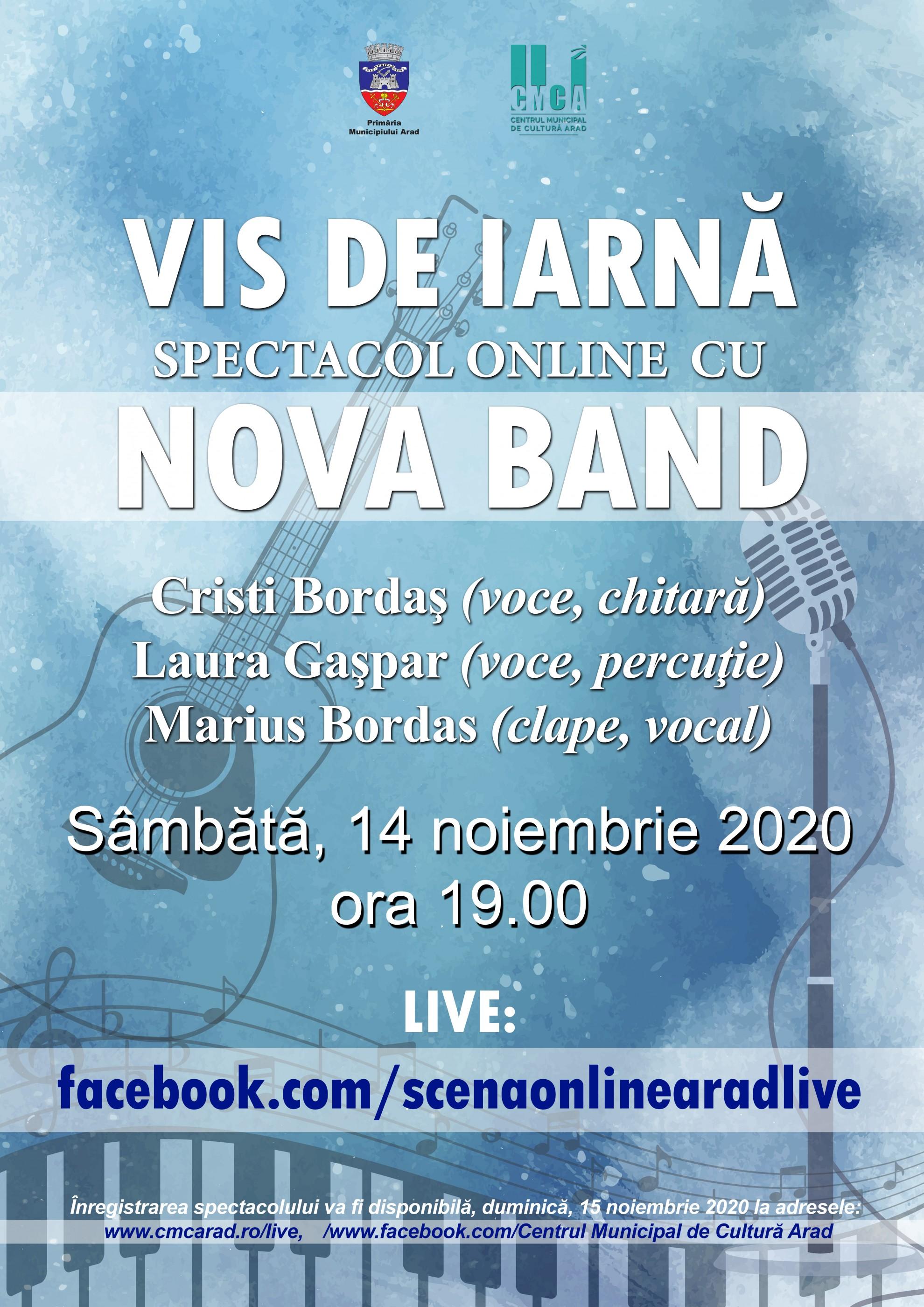 """""""Vis de iarnă"""" – spectacol online cu Nova Band"""