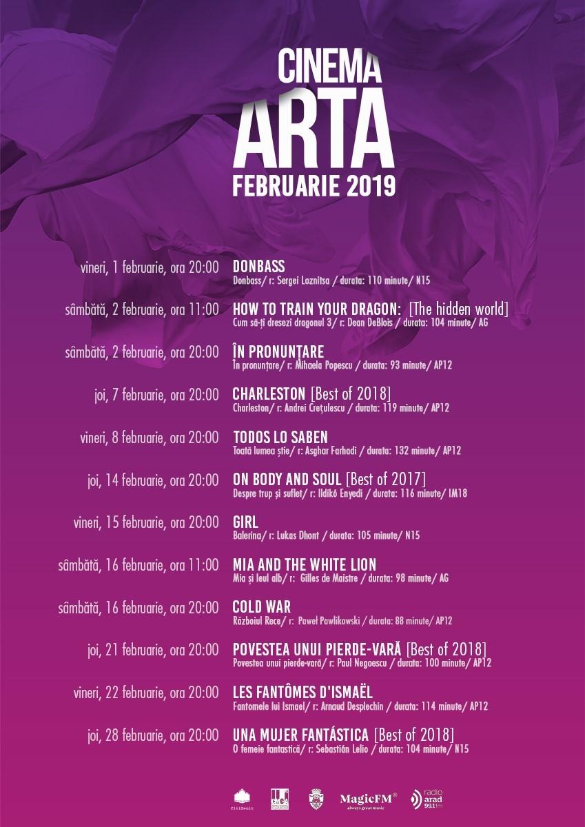 Un program provocator și divers în luna februarie la Cinema Arta