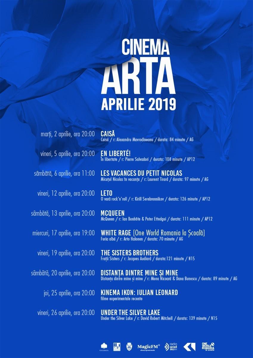 """Filme de festival, documentare și pelicule experimentale în aprilie la """"Arta"""""""
