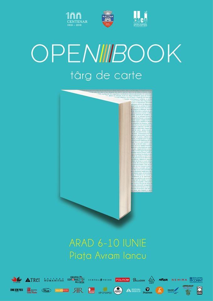 """Târgul de carte în aer liber """"Open Book"""" în premieră la Arad 6-10 iunie 2018"""