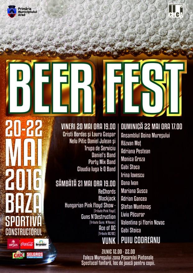 Beer Fest – arădenii sărbătoresc berea