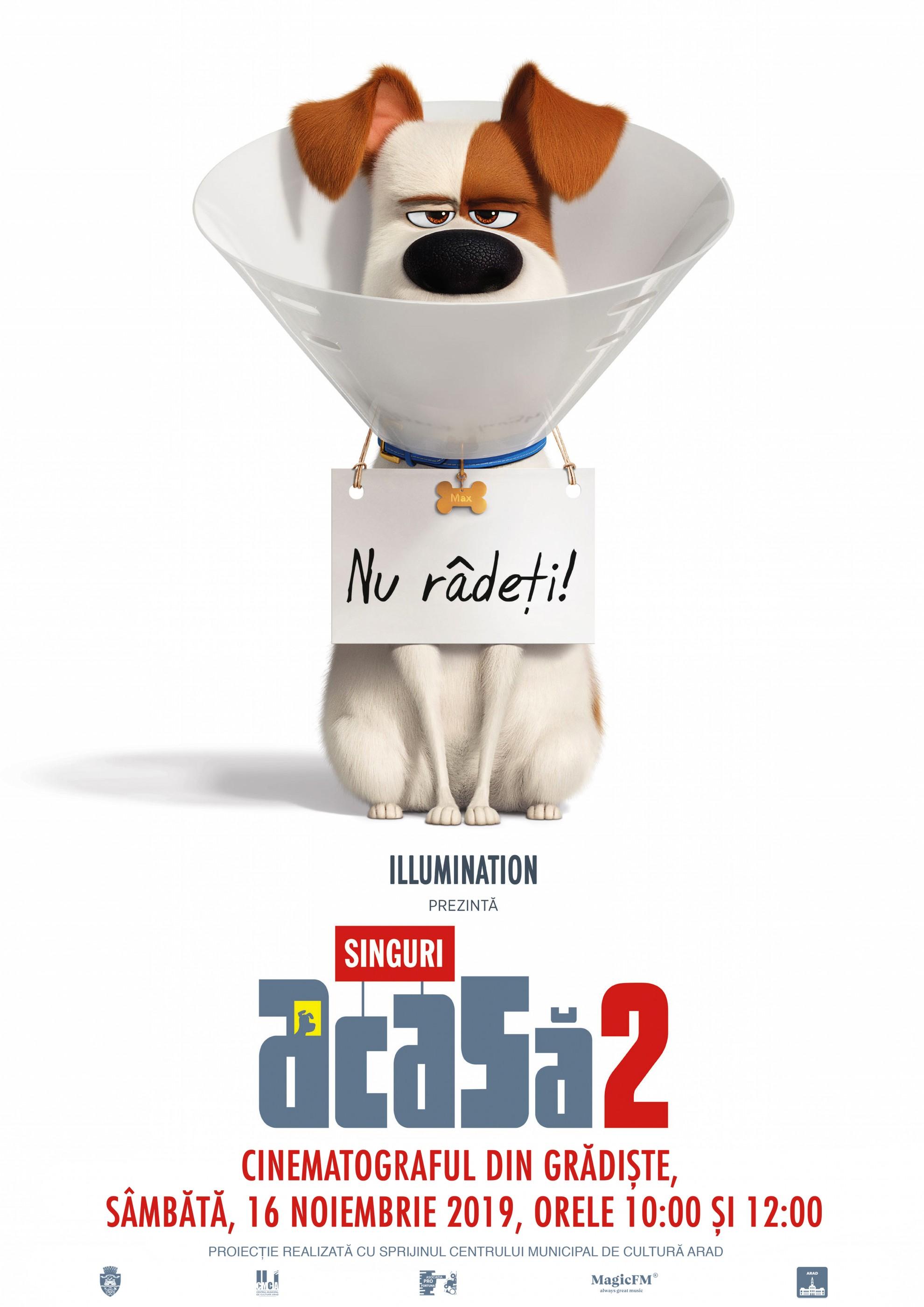 """Animația """"Singuri acasă. Viața secretă a animalelor 2"""", la cinematograful din Grădiște"""