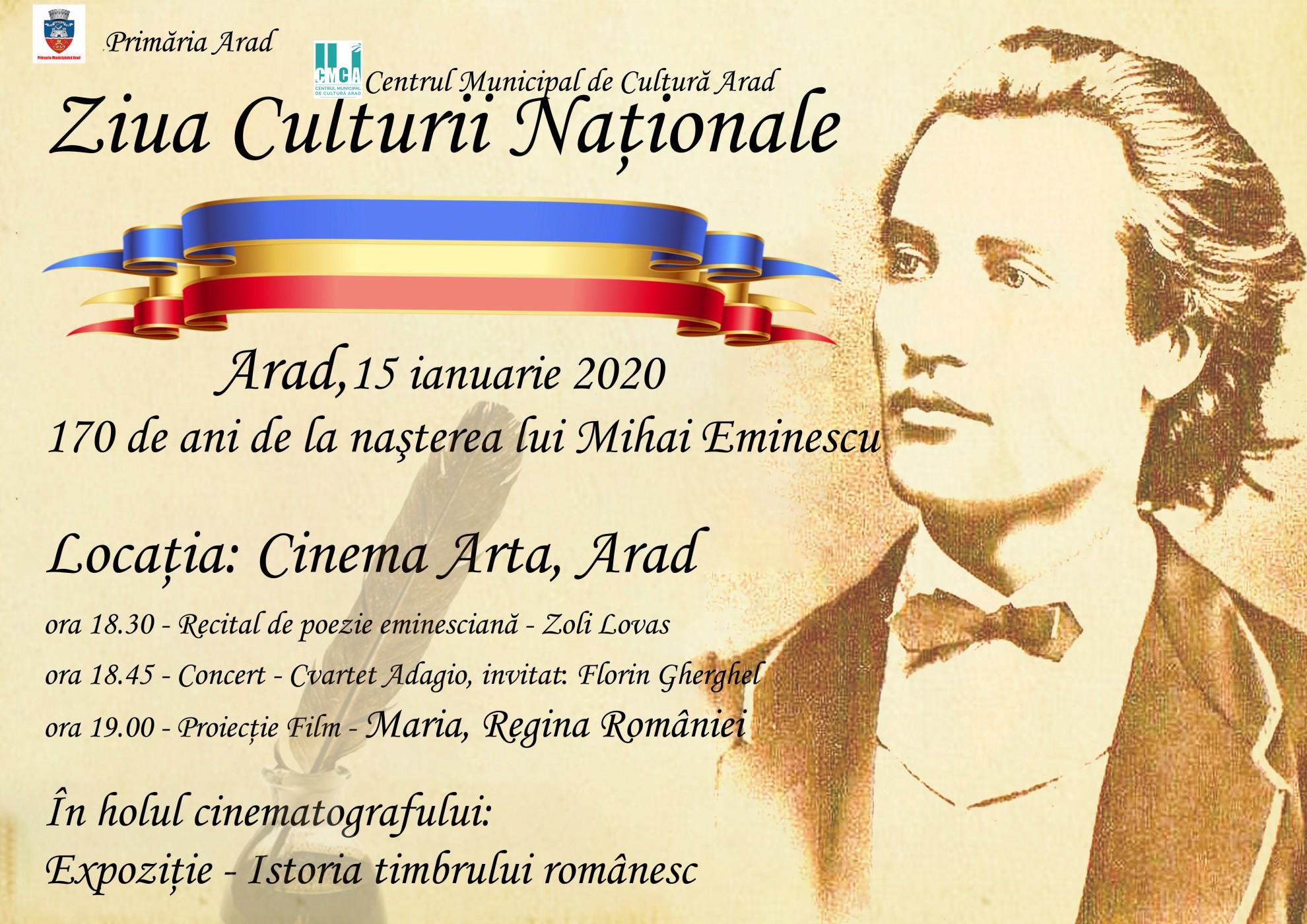 Ziua Culturii Naționale, la Arad
