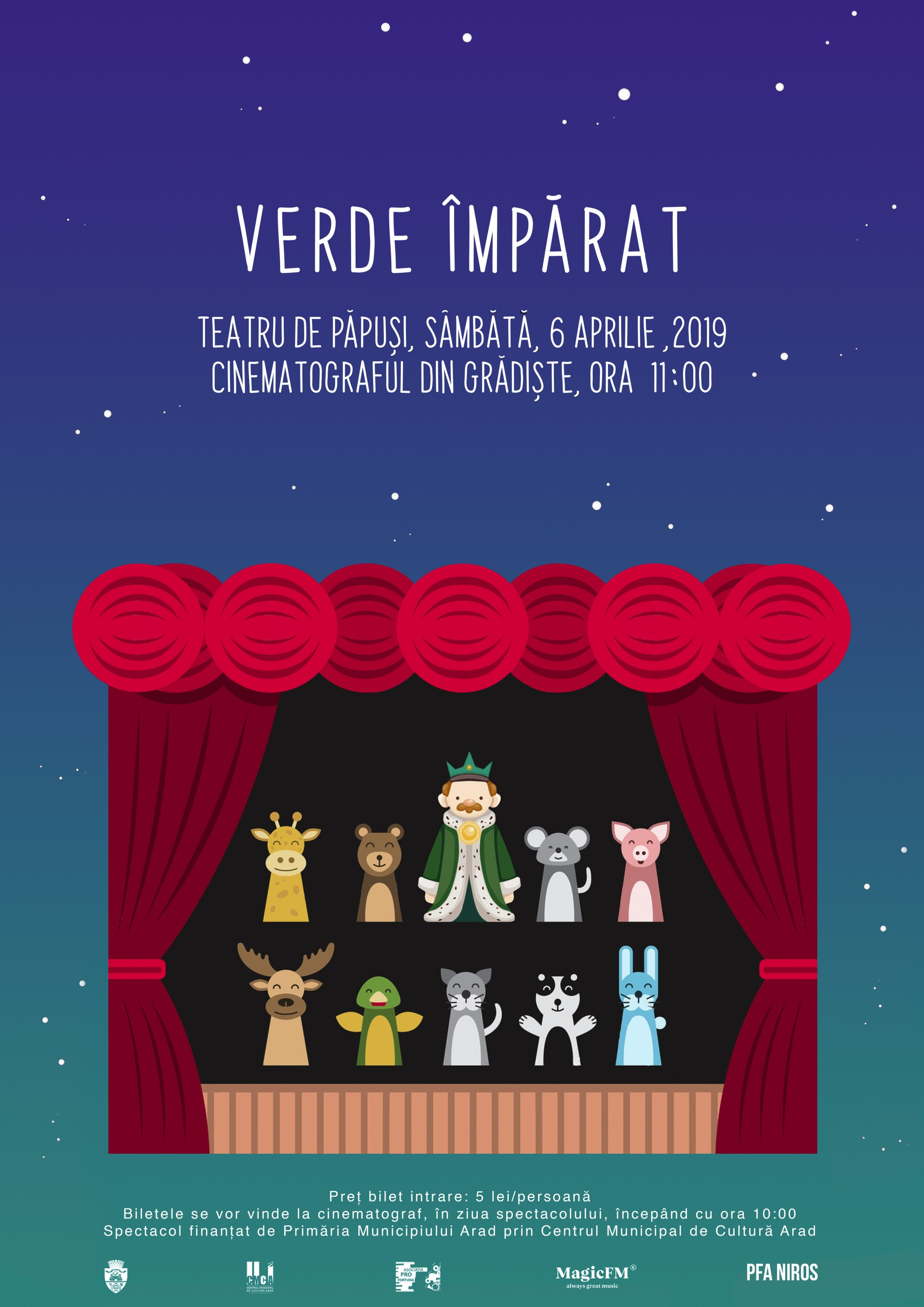 """""""Verde Împărat"""" – o nouă piesă de teatru de păpuși, la Cinematograful din Grădiște"""