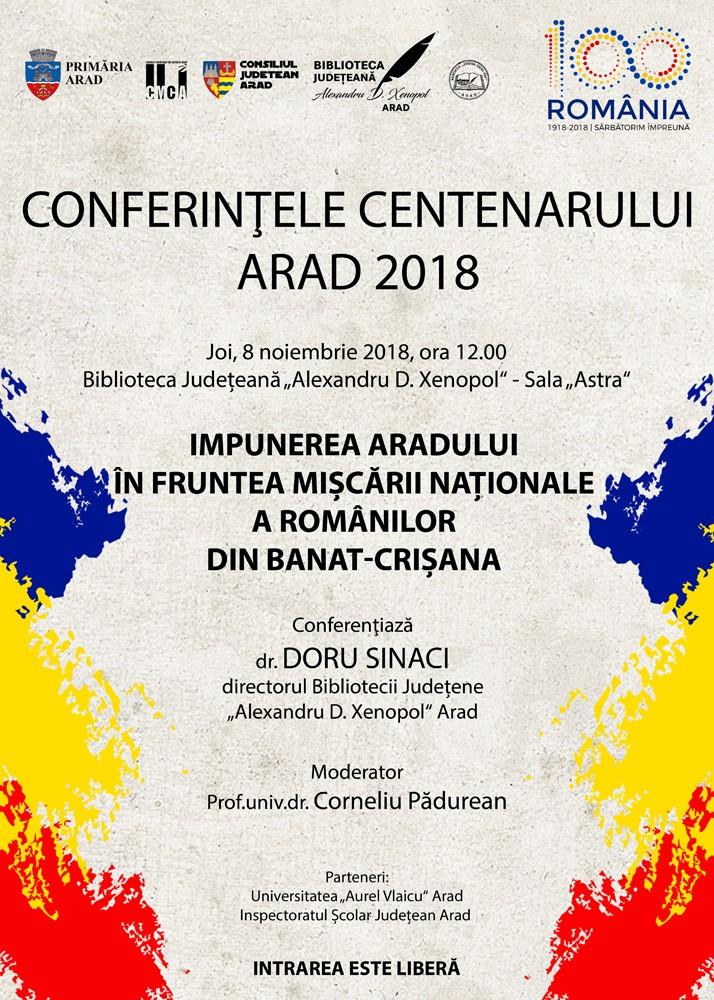 Conferințele Centenarului VII. Conferențiază dr. Doru Sinaci