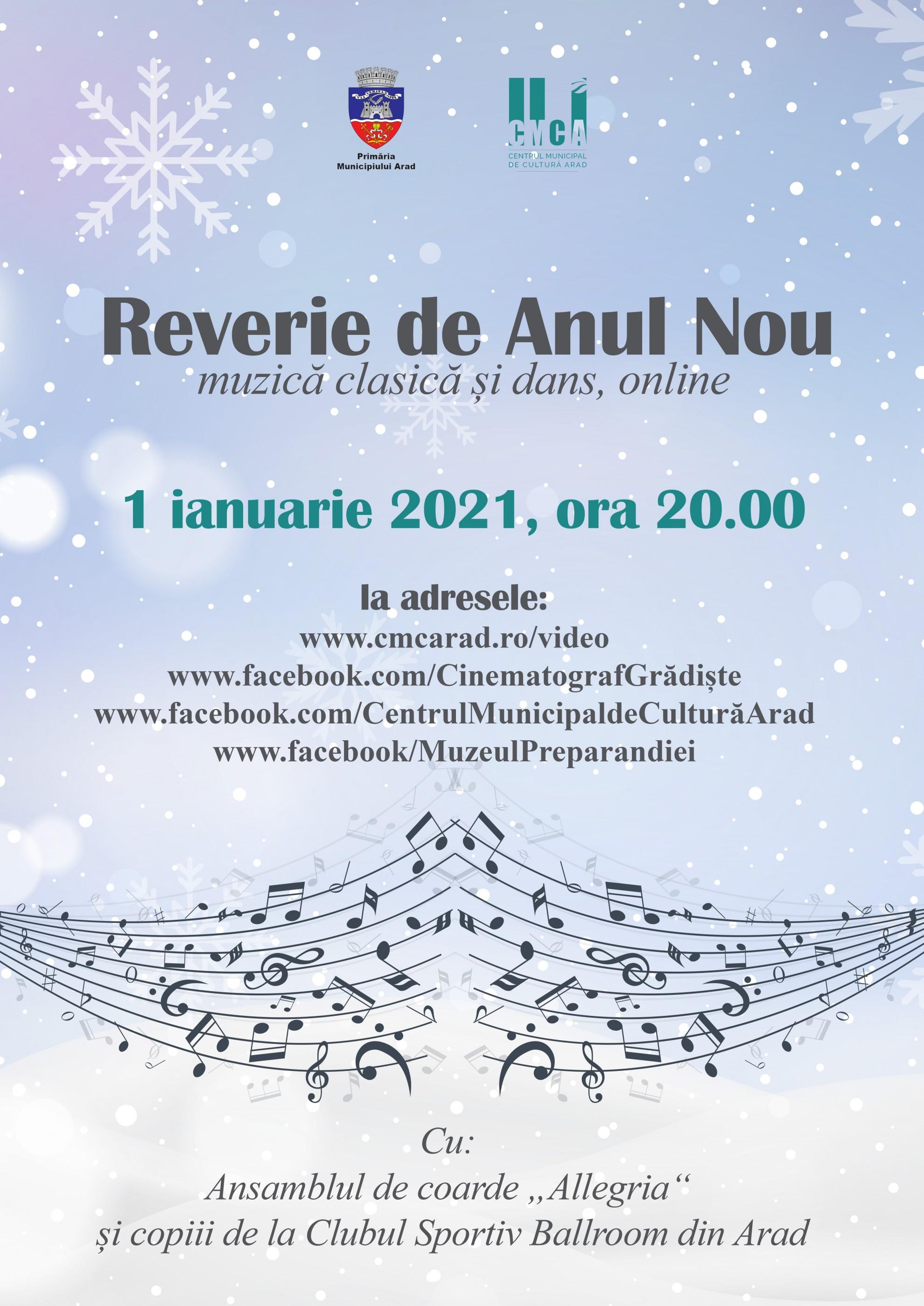 """""""Reverie de Anul Nou"""" – muzică clasică și dans, online"""