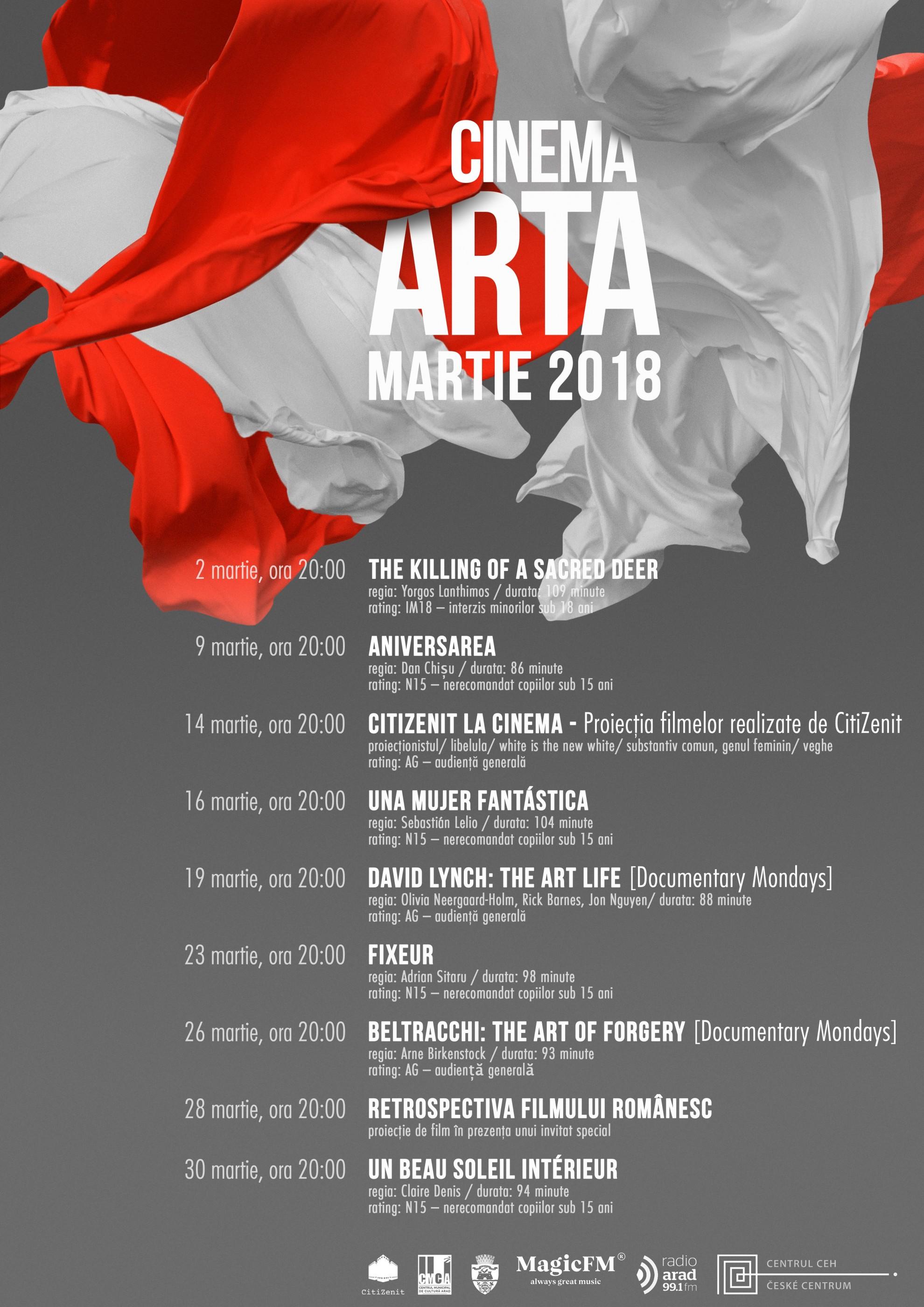 Luna martie la Cinema Arta:  program intens de filme europene, româneşti şi documentare