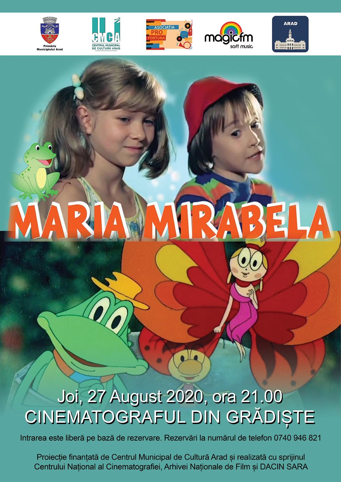 """Filmul """"Maria Mirabela"""", în grădina de vară de la cinematograful din Grădiște"""