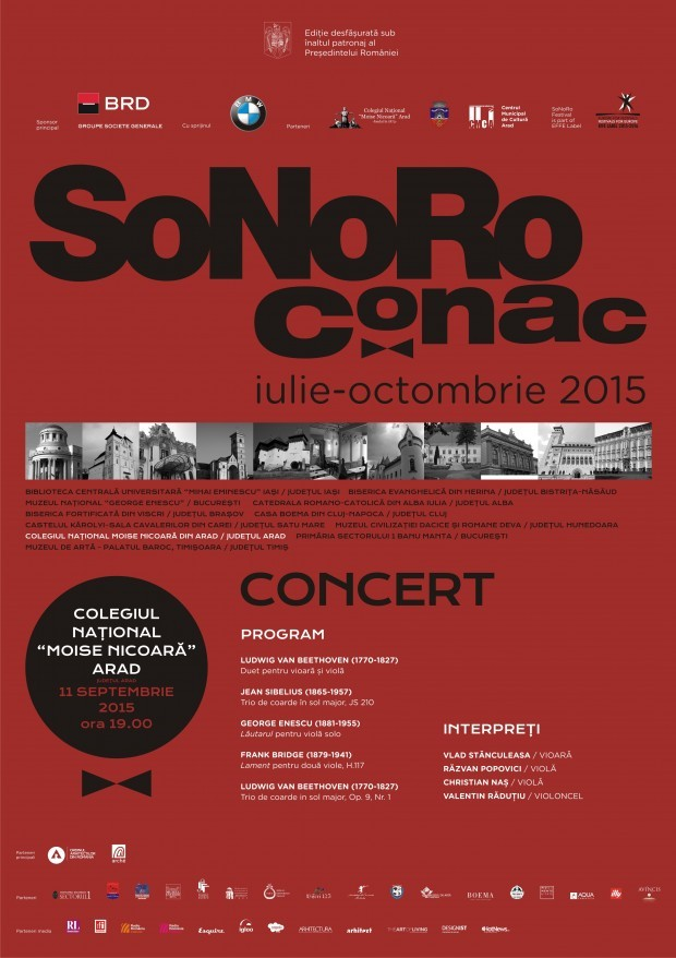 Concert SoNoRo Conac la Colegiul Național Moise Nicoară
