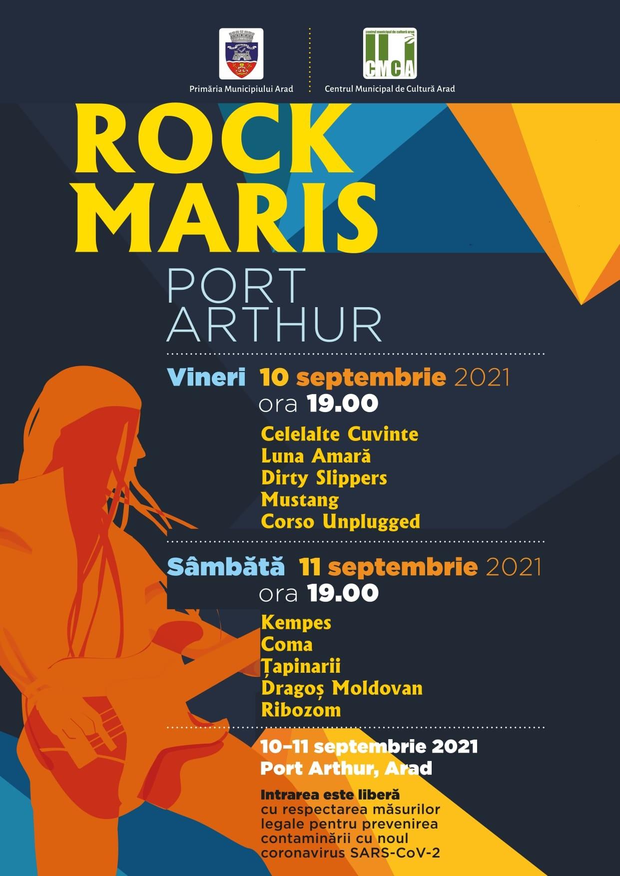 "Festivalul ""Rock Maris"", ediția 2021, la Arad"