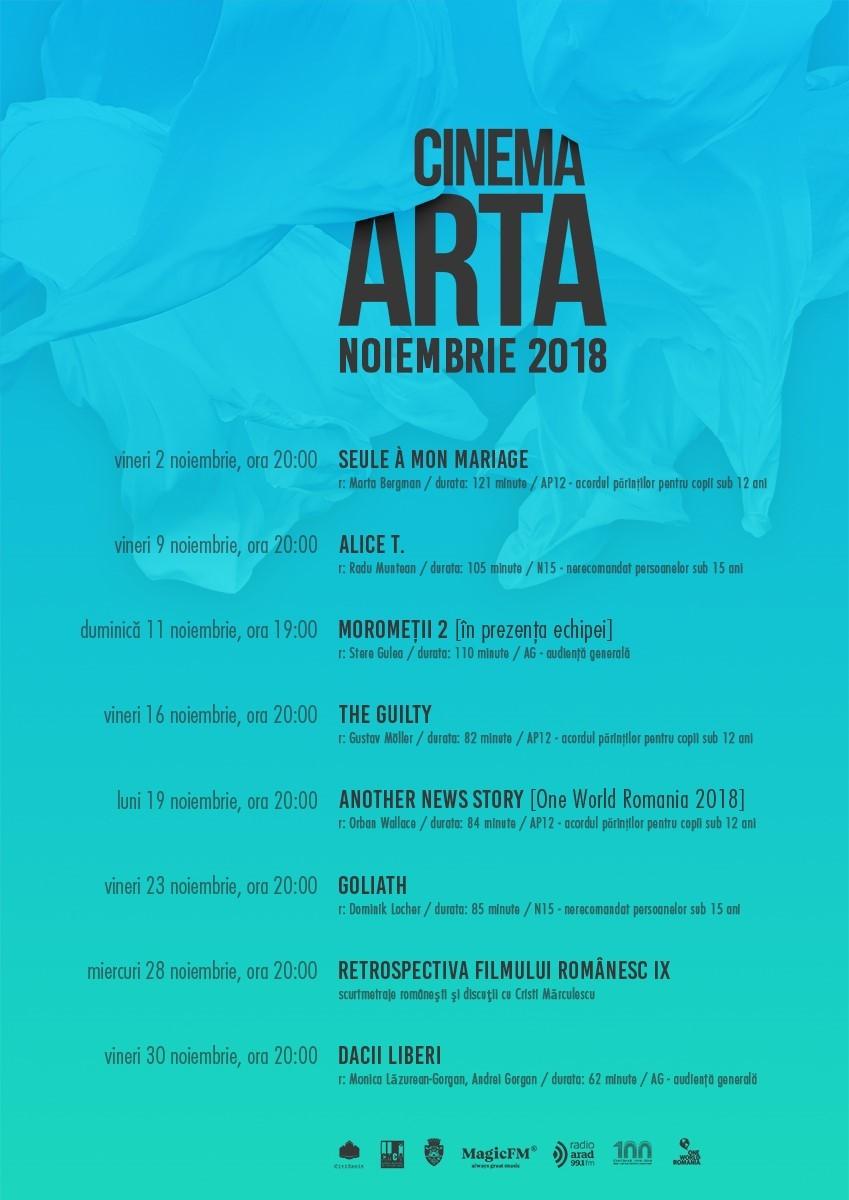 Programul lunii noiembrie la Cinema Arta