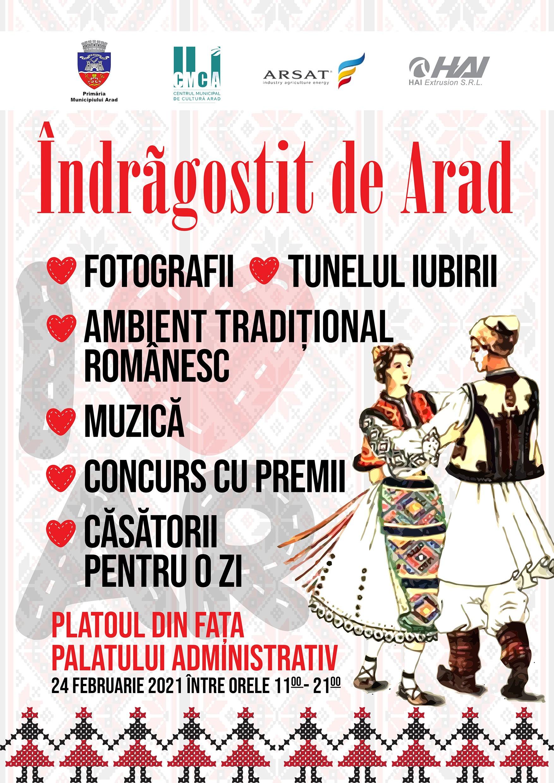 """De Dragobete, fii """"Îndrăgostit de Arad""""!"""