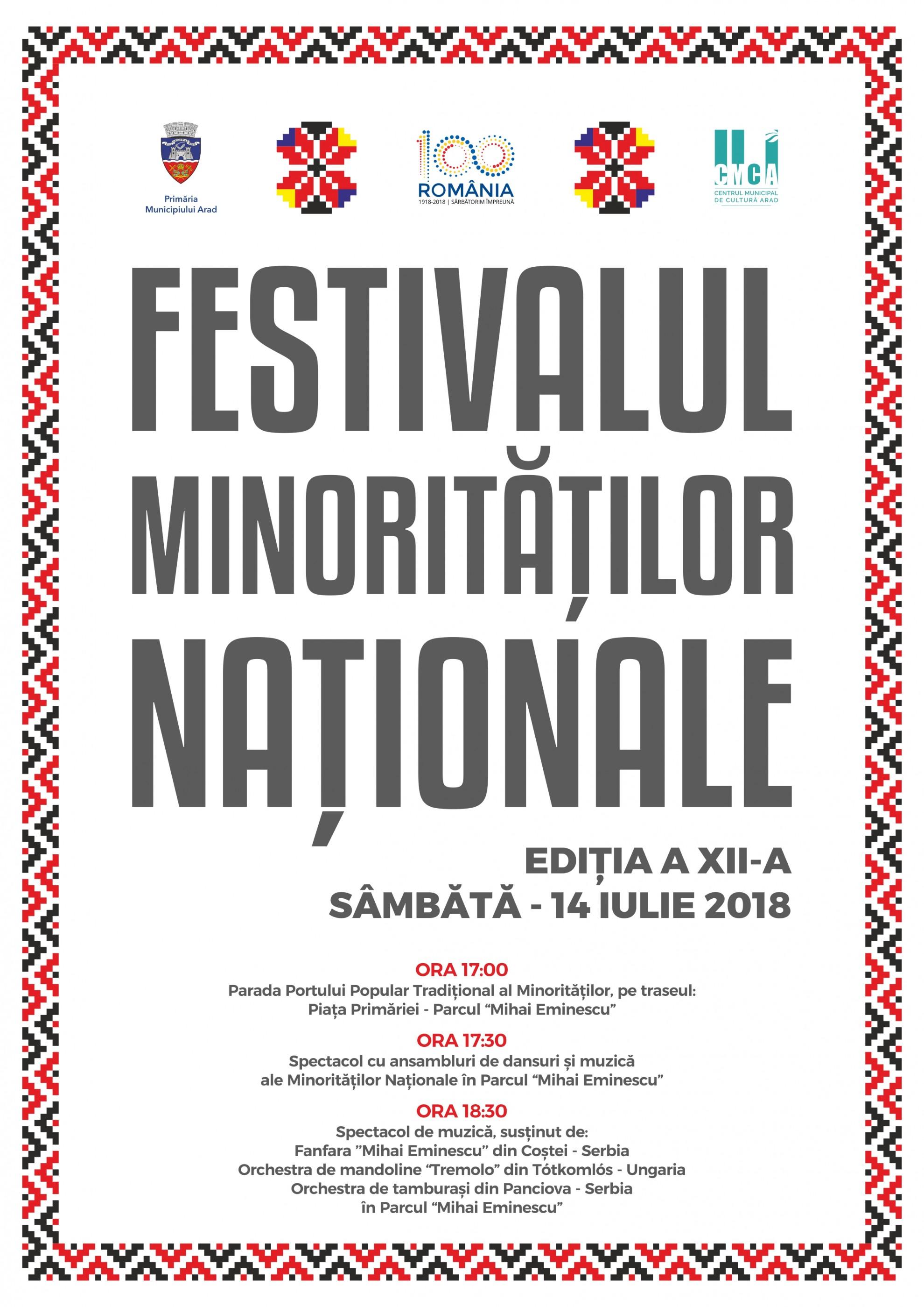 Festivalul Minorităţilor Naţionale la Arad, ediţia a XII-a