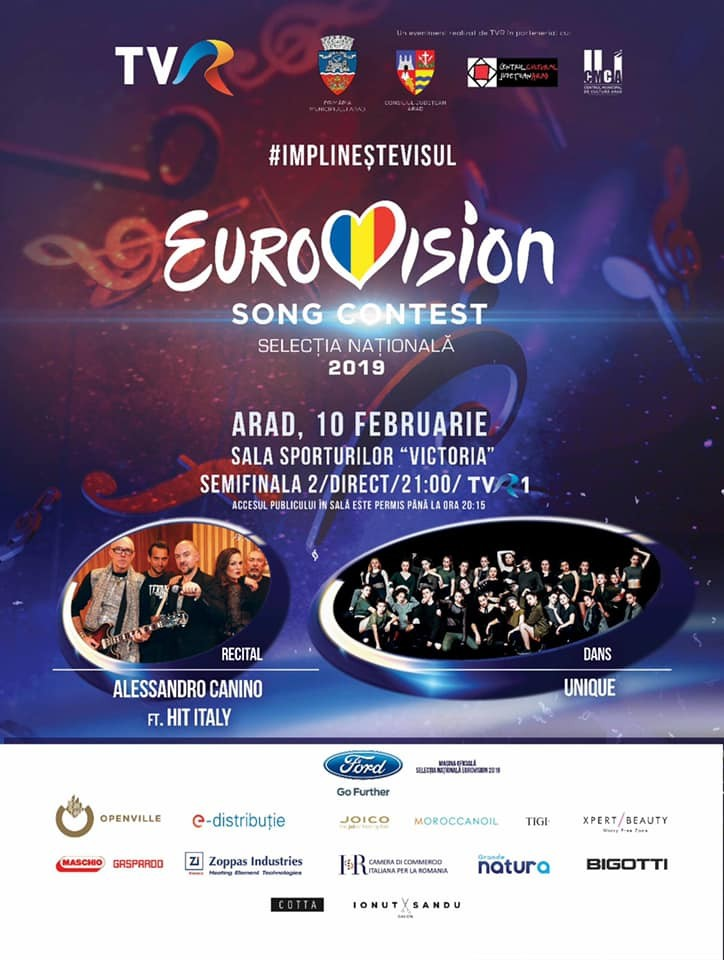 Eurovision 2019 - Semifinala de la Arad